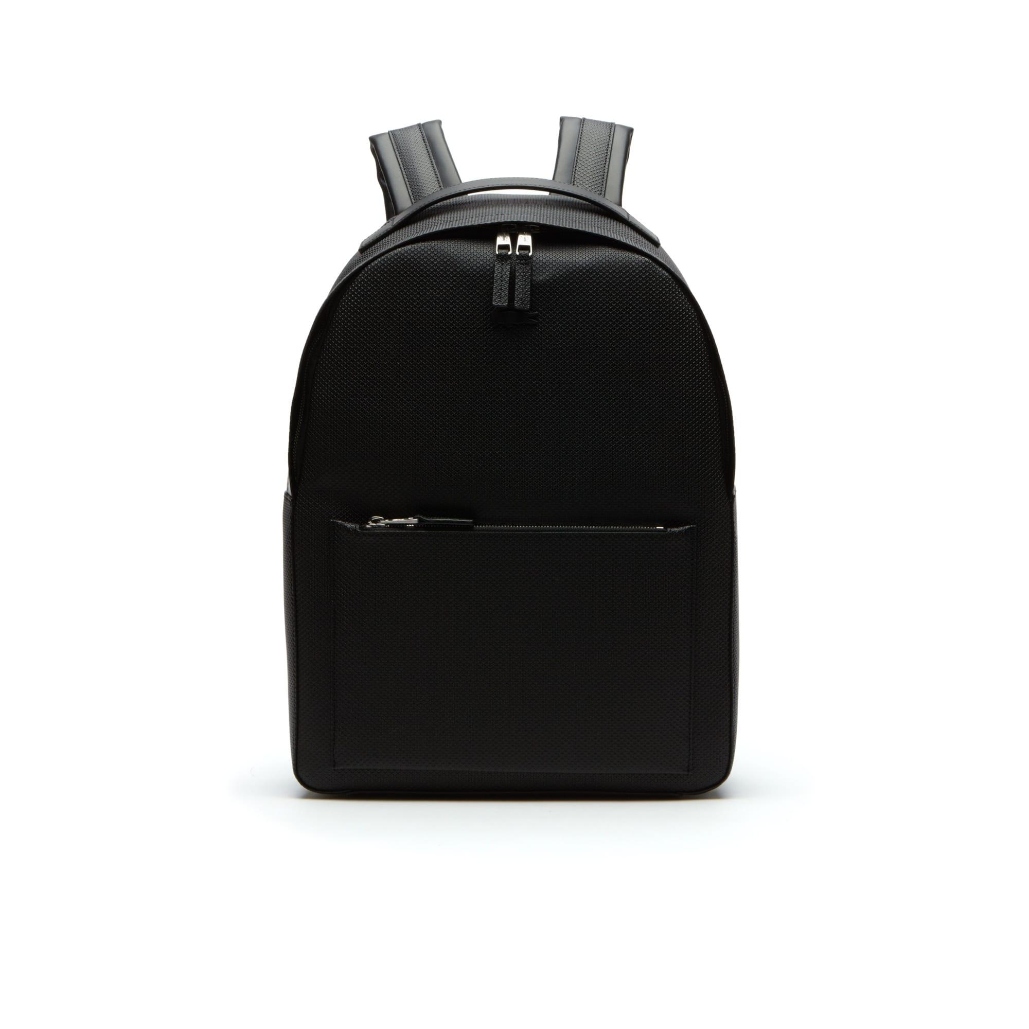 Men's Chantaco Matte Piqué Leather Backpack