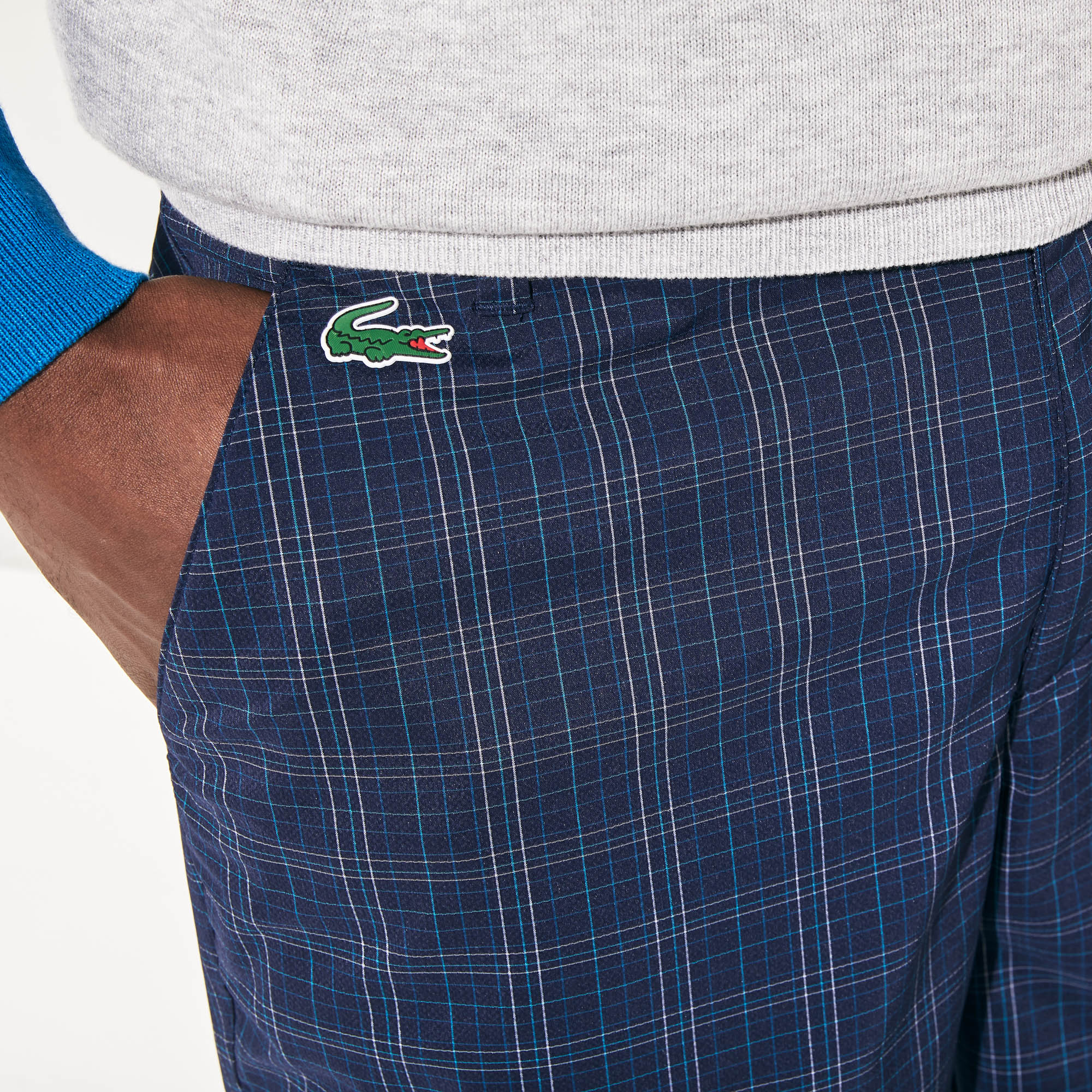 Men's Lacoste SPORT Checked Stretch Golf Bermudas