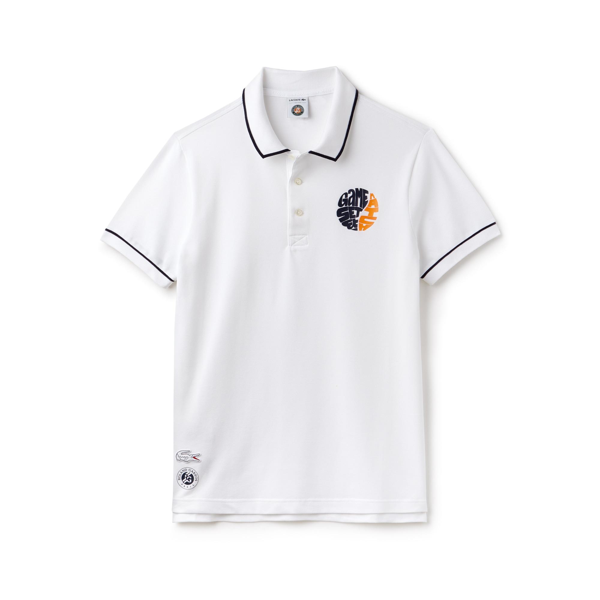 Men's Lacoste SPORT Roland Garros Edition Stretch Mini Piqué Polo Shirt