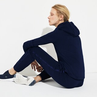 Women's Lacoste SPORT Stand-Up Neck Hooded Piqué Zip Tennis Sweatshirt