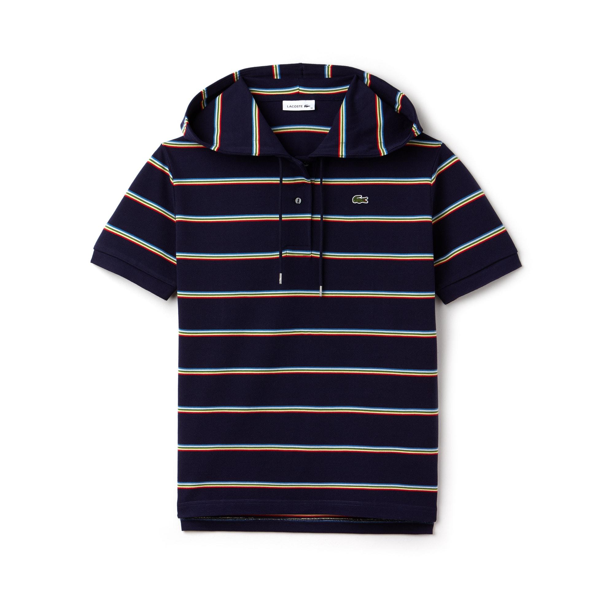 Women's Lacoste Hooded Cotton Piqué Polo Shirt
