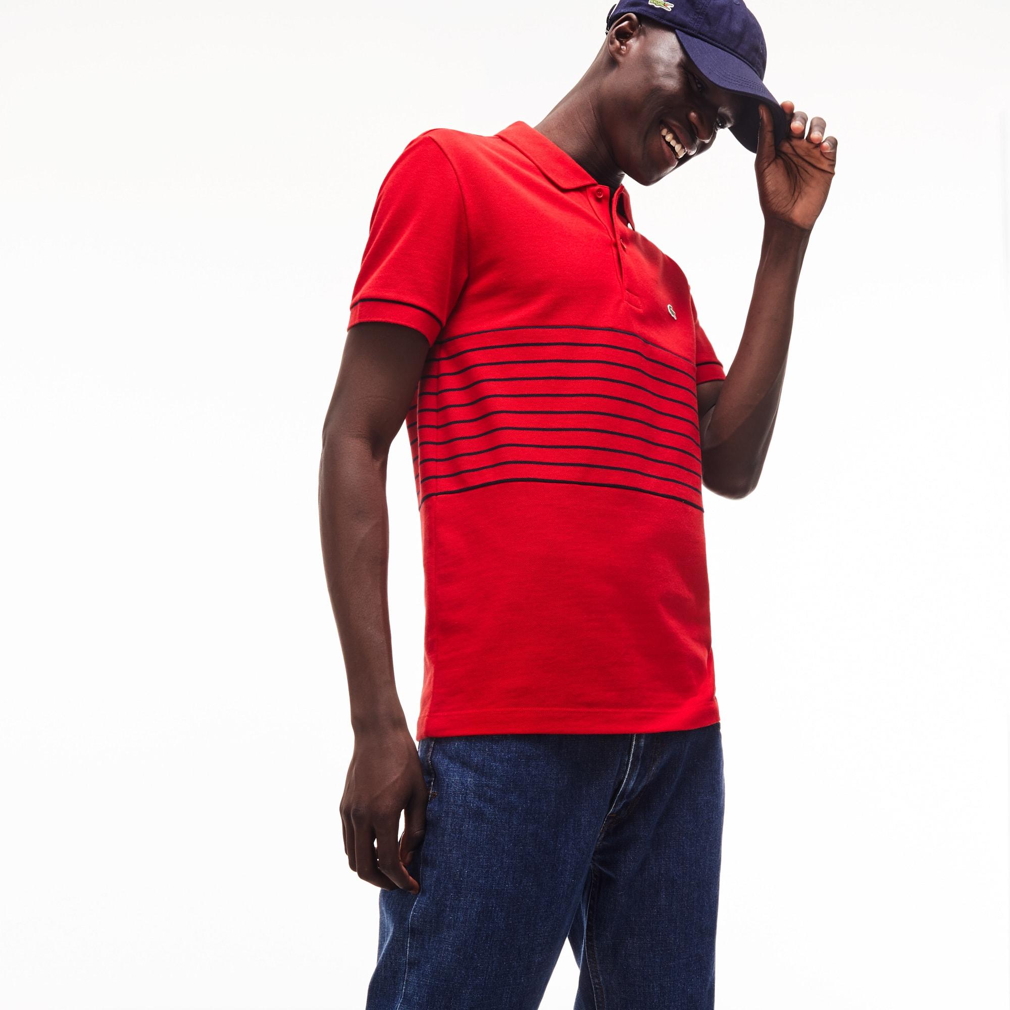 Polo Piqué Men's Shirt Lacoste Petit Striped Cotton H2Y9DWEI