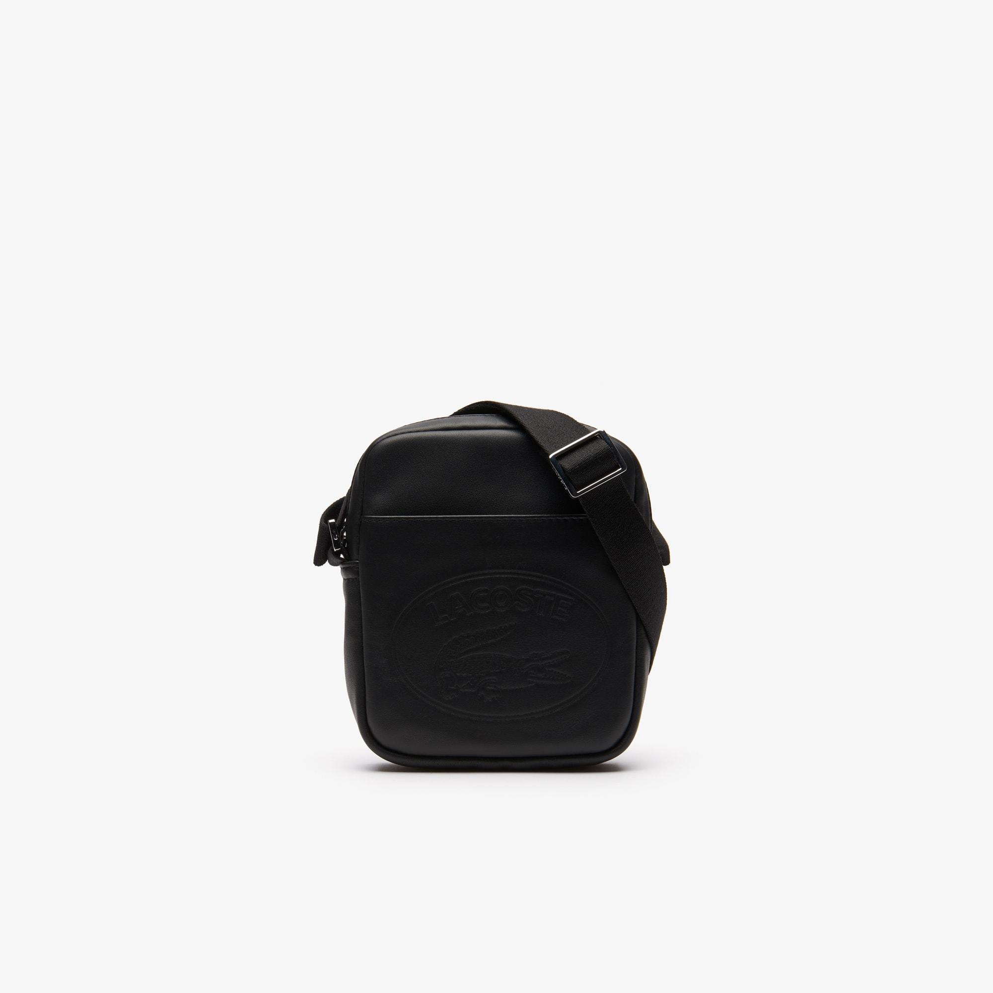 Men's L.12.12 Casual Embossed Lettering Vertical Leather Bag