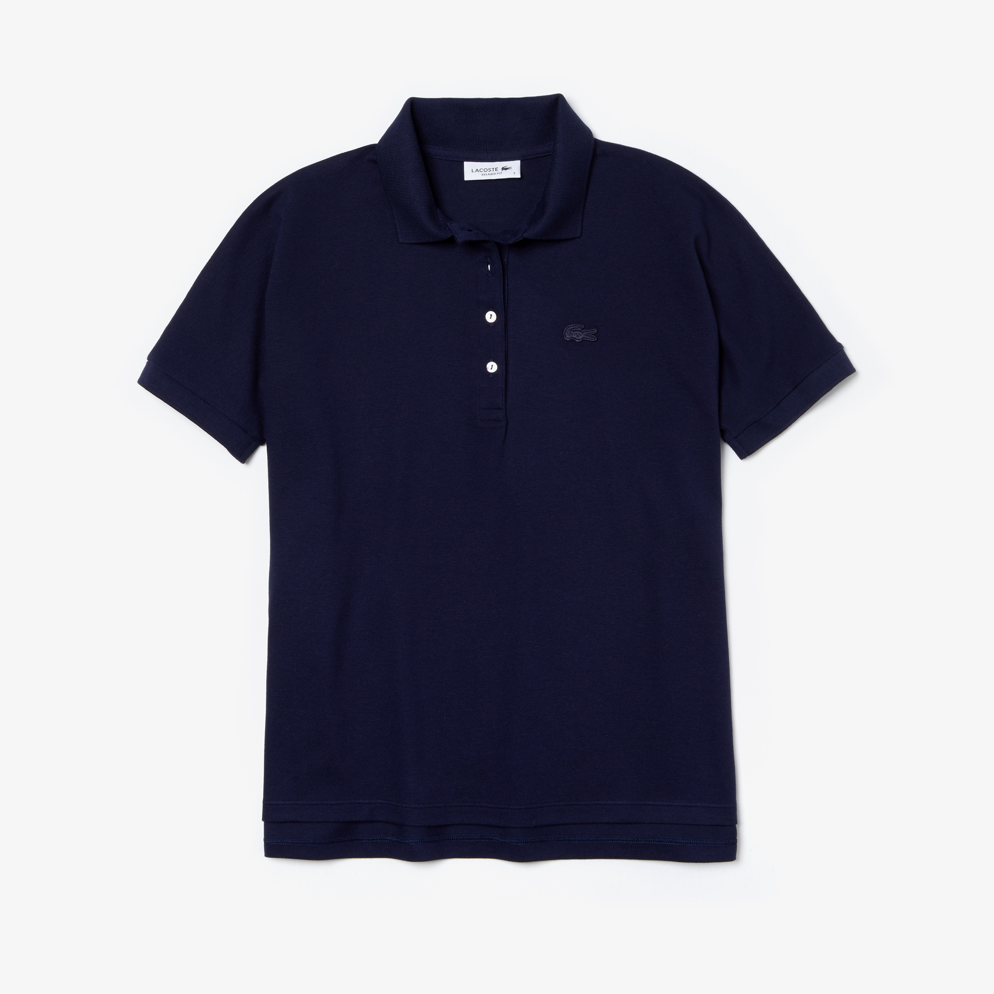 Women's Lacoste Relax Fit Flowing Stretch Cotton Piqué Polo Shirt