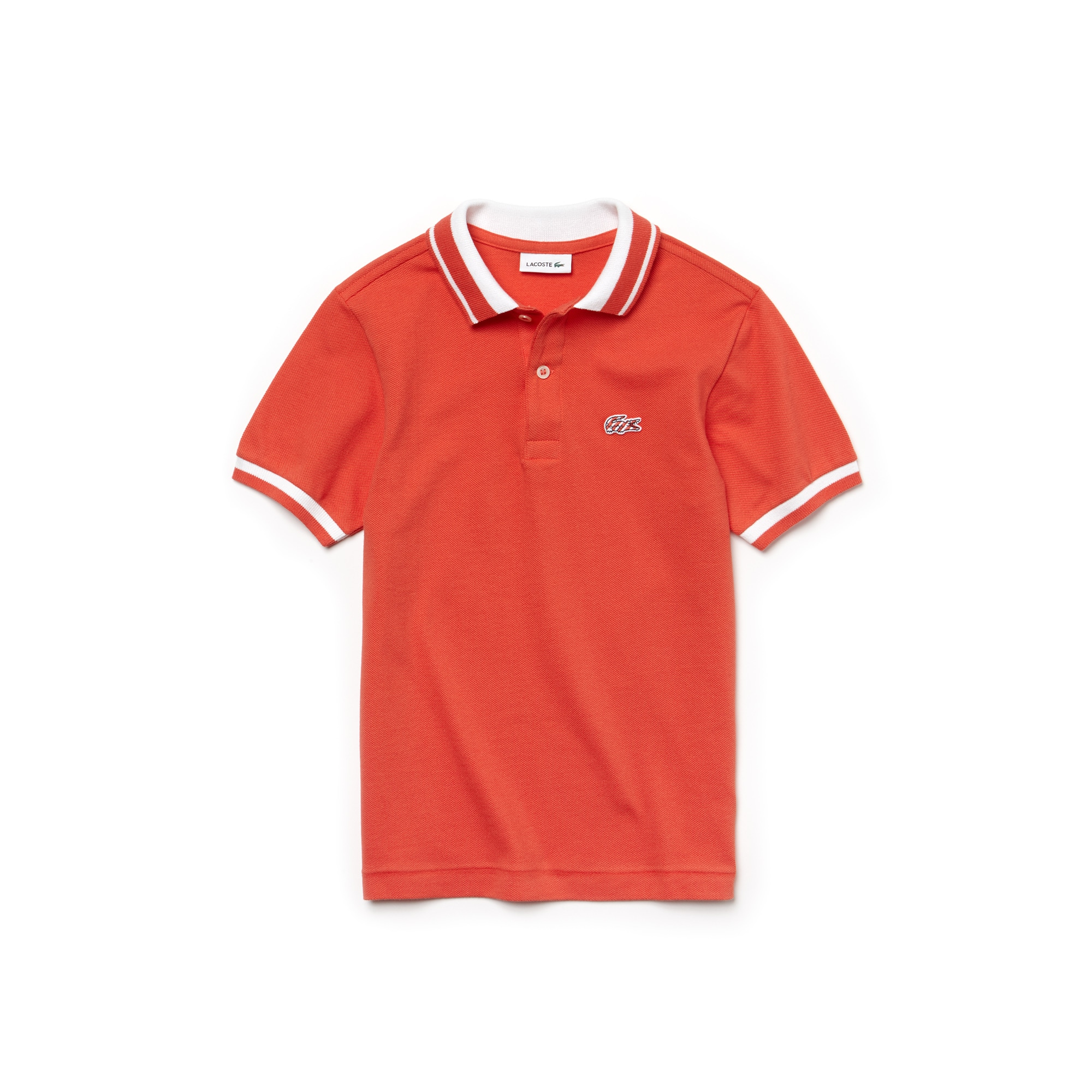 Kids' Lacoste classic fit Polo Shirt in two-ply fine piqué