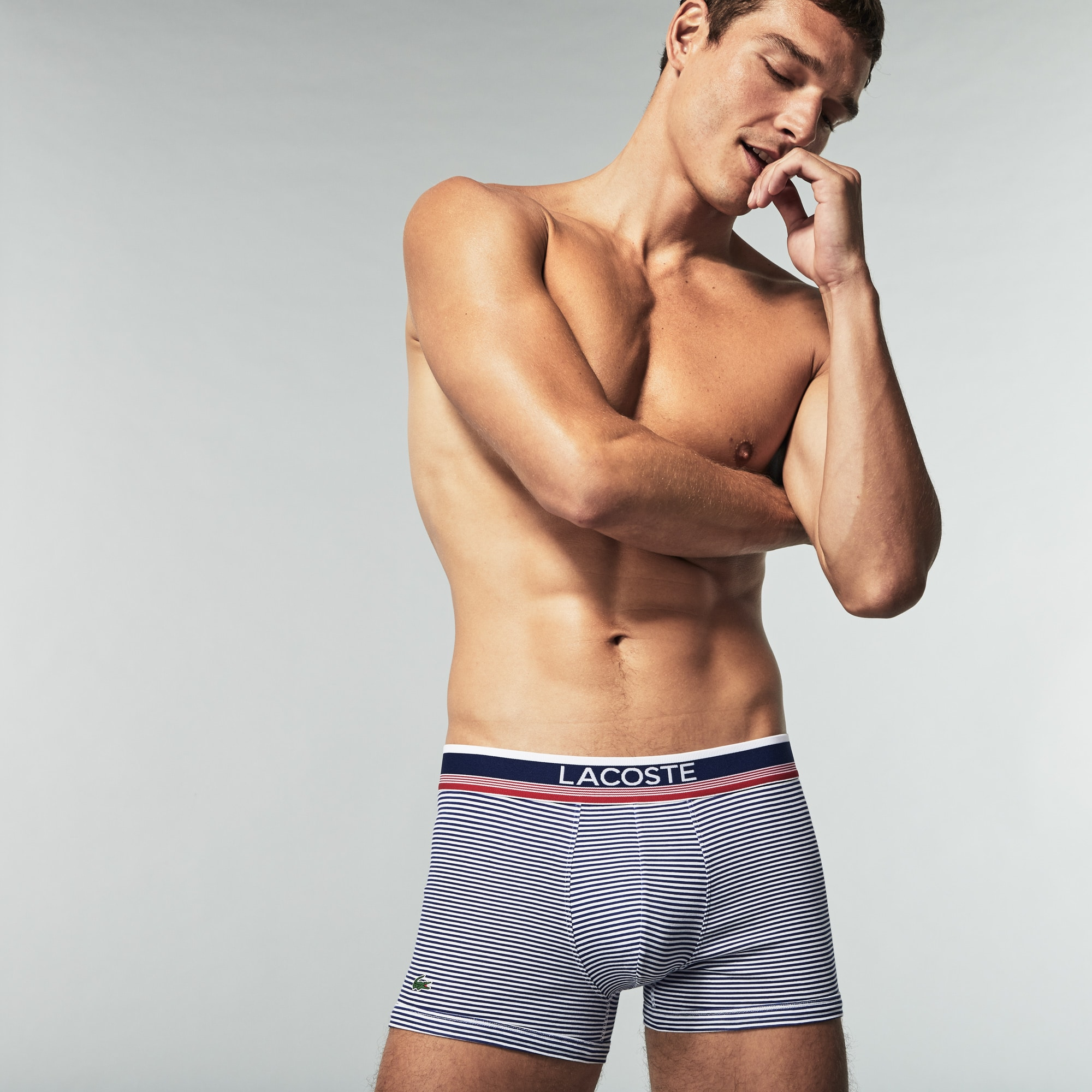 Pack Of 2 Colours Boxer Briefs With Nautical Stripe