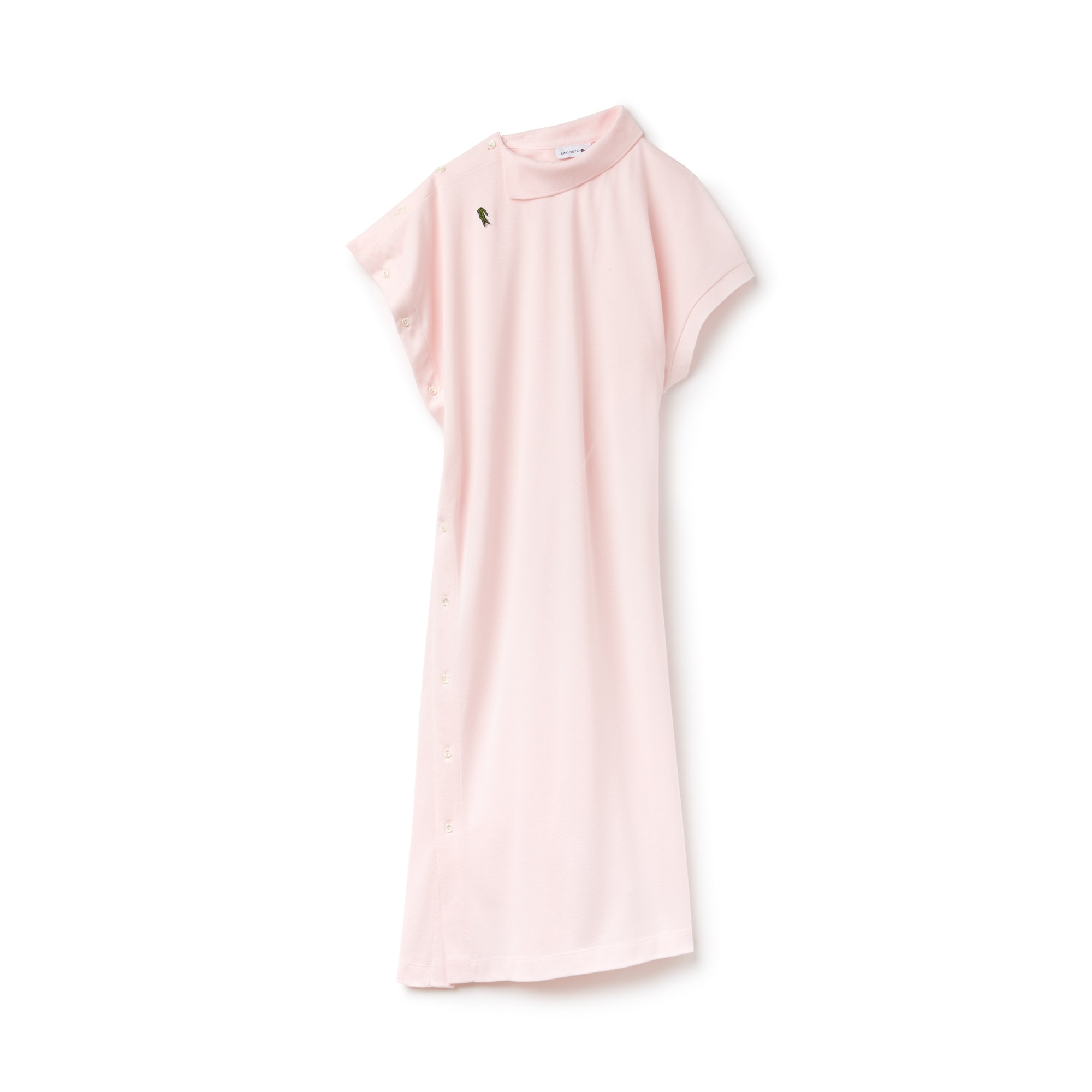 Women's Fashion Show Asymmetrical Cotton Piqué Polo Dress