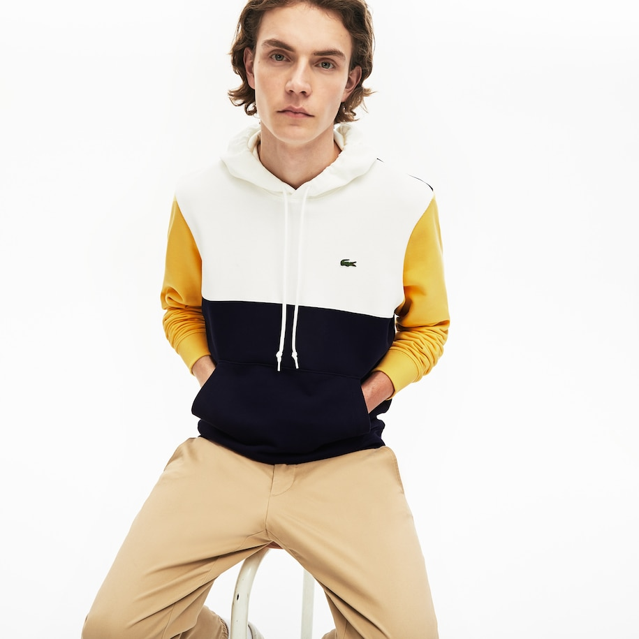 Men's Colourblock Hooded Sweatshirt