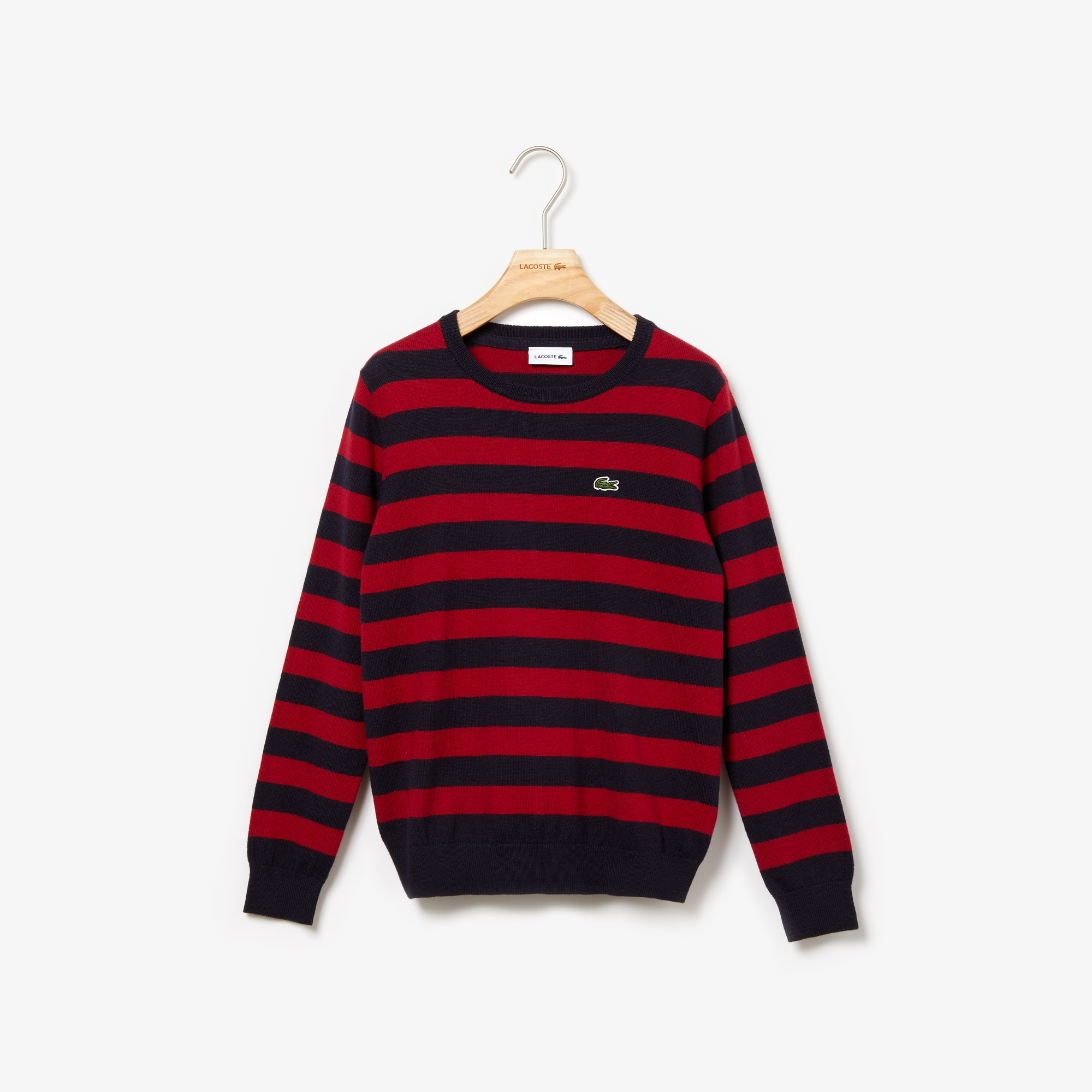 Boys' Crew Neck Striped Cashmere And Cotton Sweater