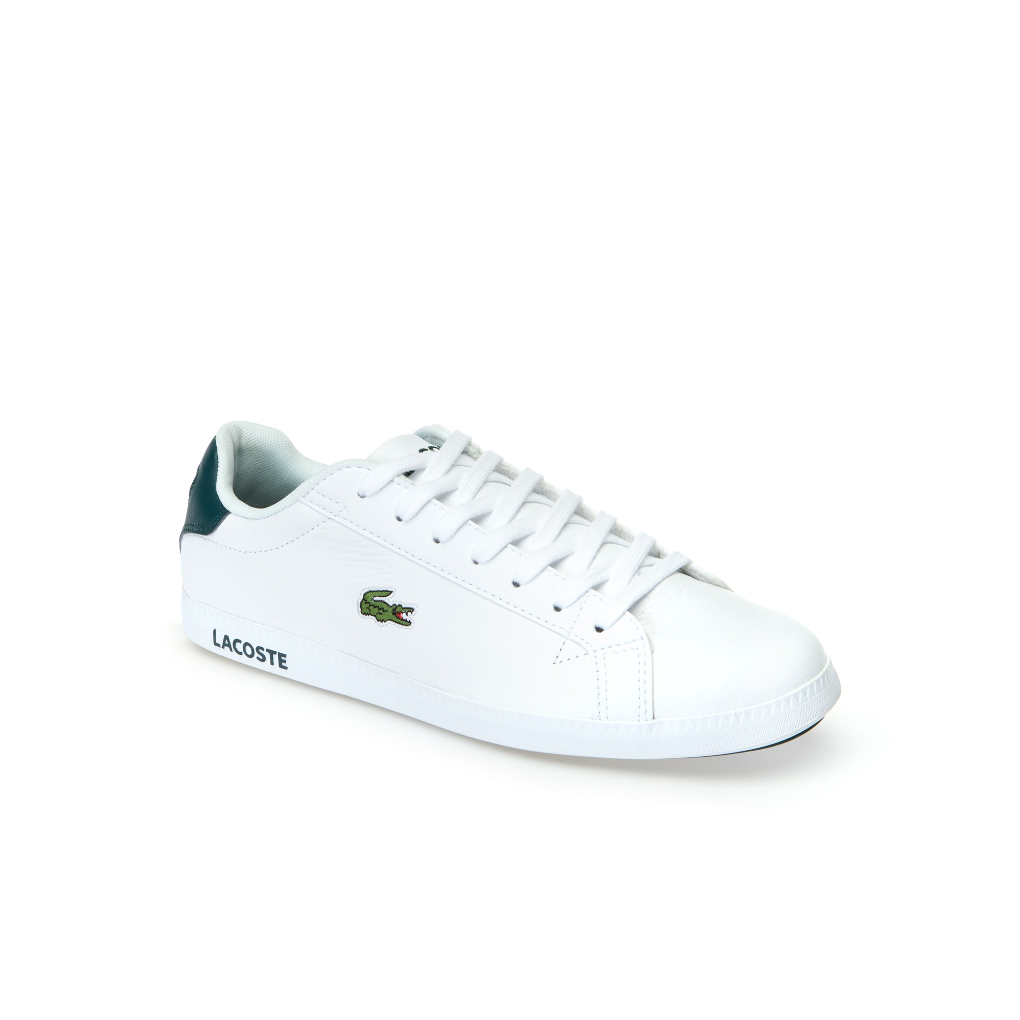 Lacoste Graduate trainers in white leather discount wiki kQFfm8