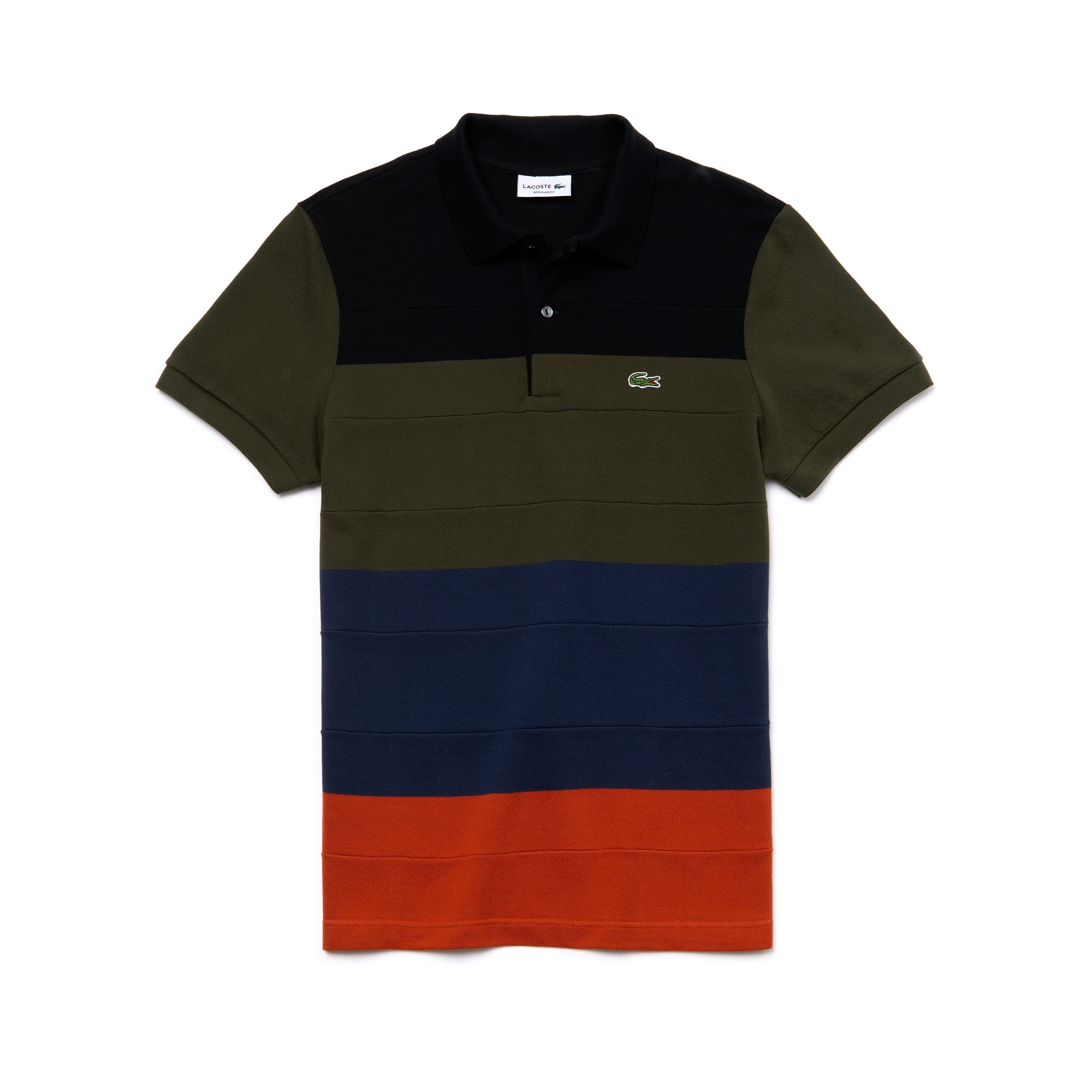 Men's Lacoste Regular Fit Colorblock Cotton Piqué Polo