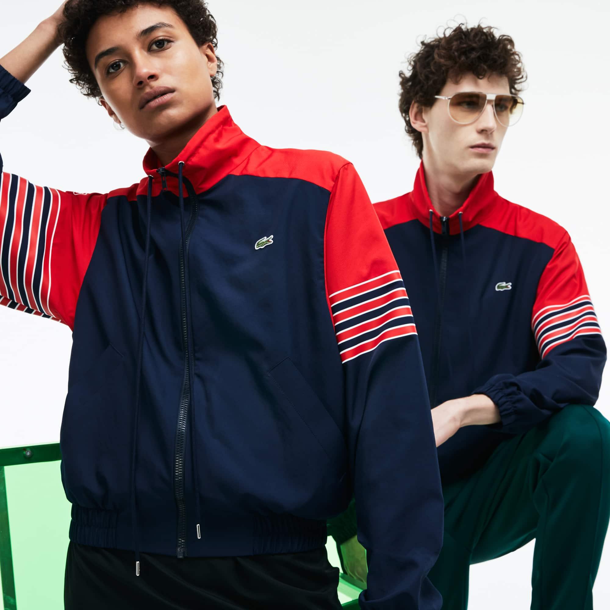Unisex Fashion Show Colorblock Technical Canvas Zippered Jacket