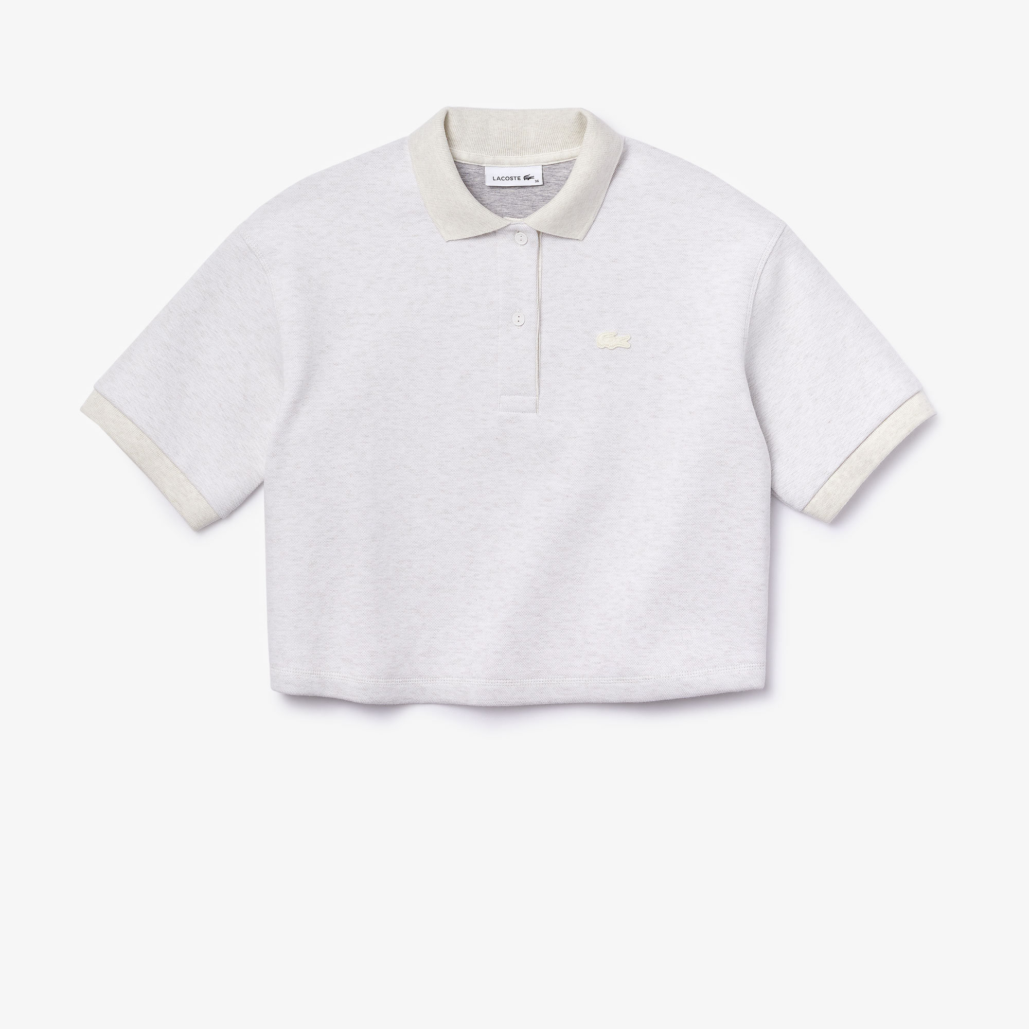Women's Lacoste Motion Two-Ply Piqué And Jersey Short Polo Shirt