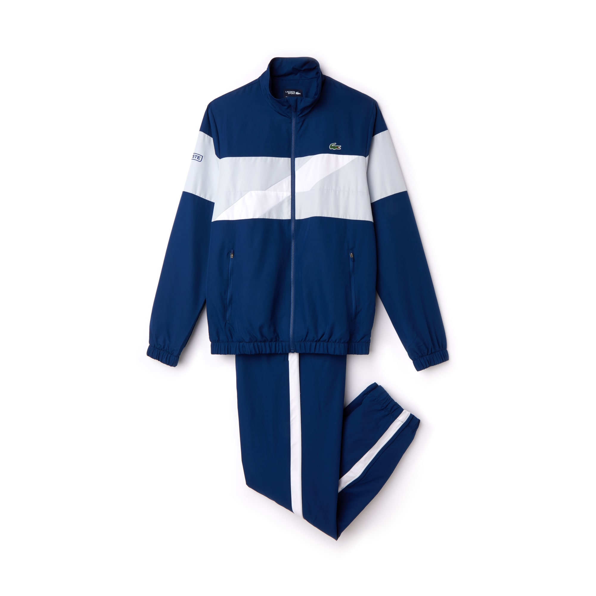 d8c377b13b Men's Lacoste SPORT Colored Bands Taffeta Tennis Tracksuit ...