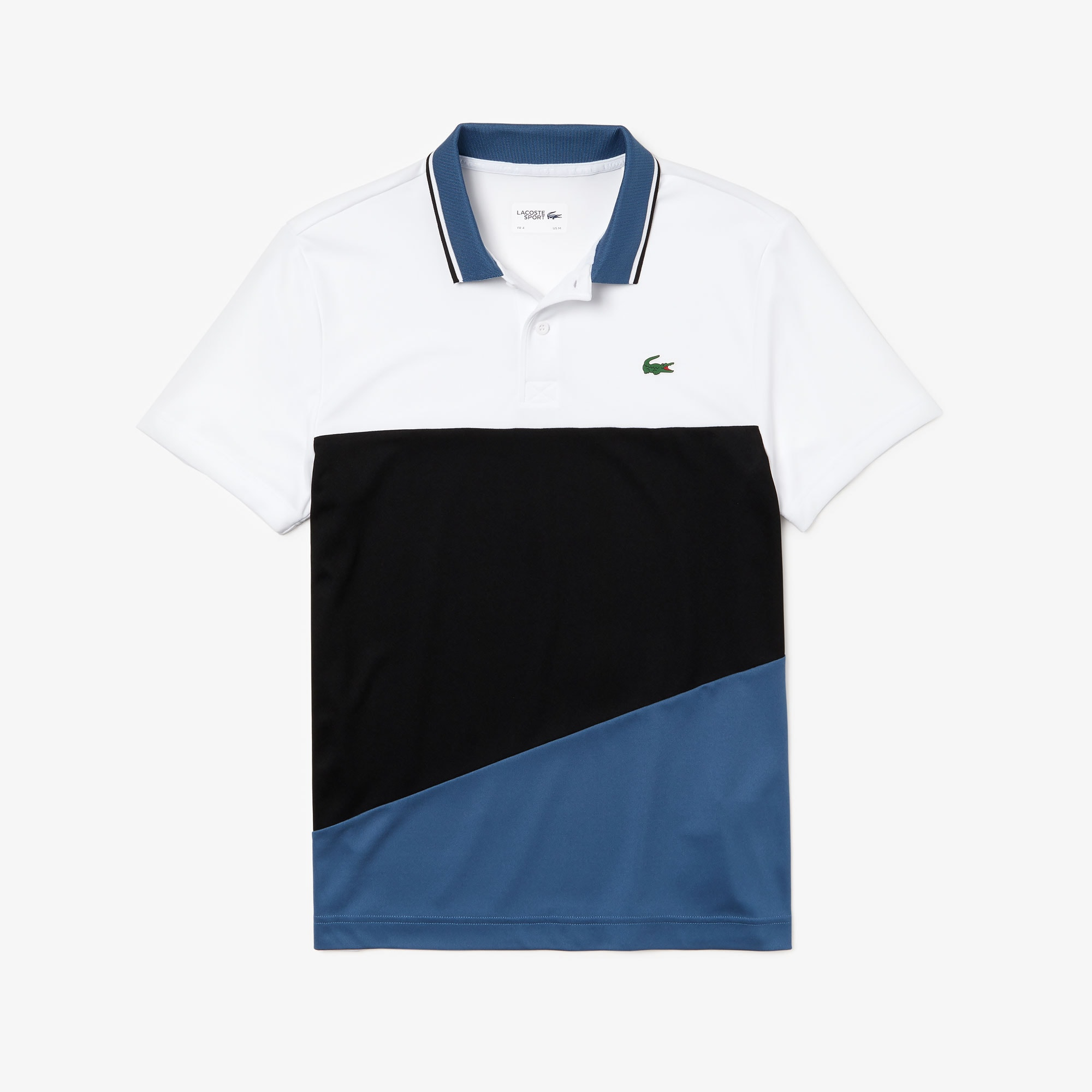 Men's Lacoste SPORT Colourblock Breathable Technical Piqué Polo Shirt