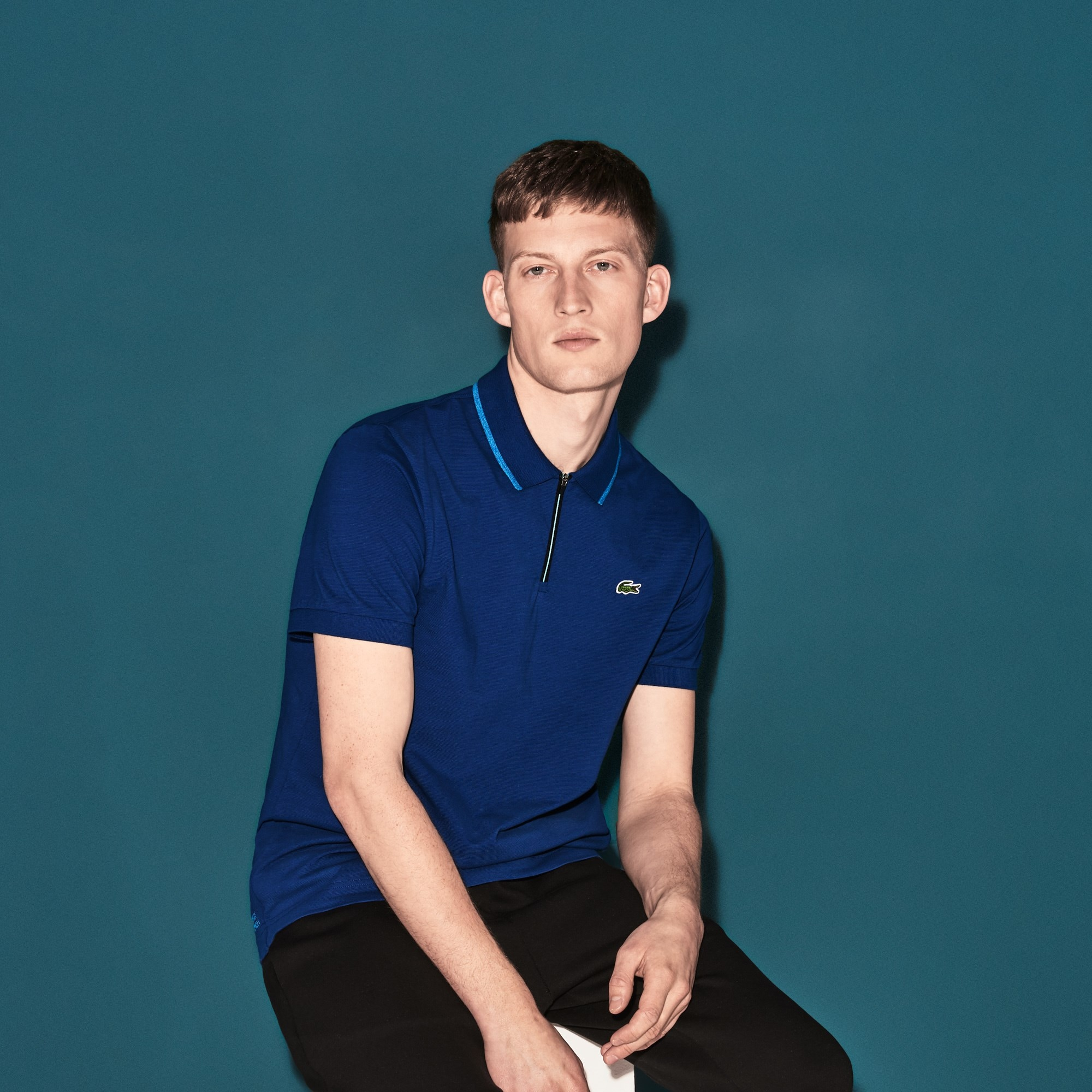 Men's Lacoste SPORT Contrast Accent Ultra-Light Cotton Tennis Polo Shirt