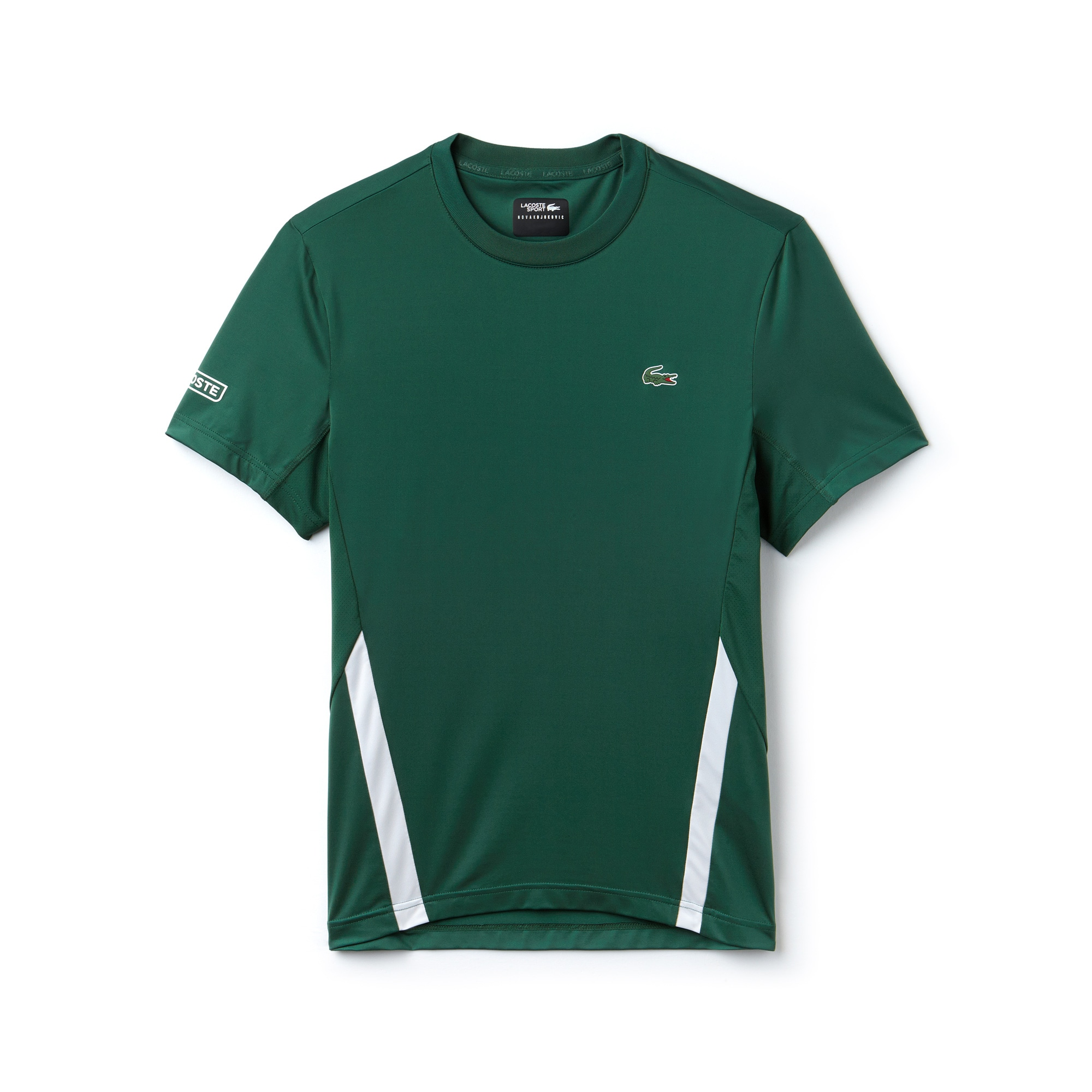 Men's Lacoste SPORT NOVAK DJOKOVIC-OFF COURT COLLECTION Crew Neck Stretch Technical Jersey T-shirt