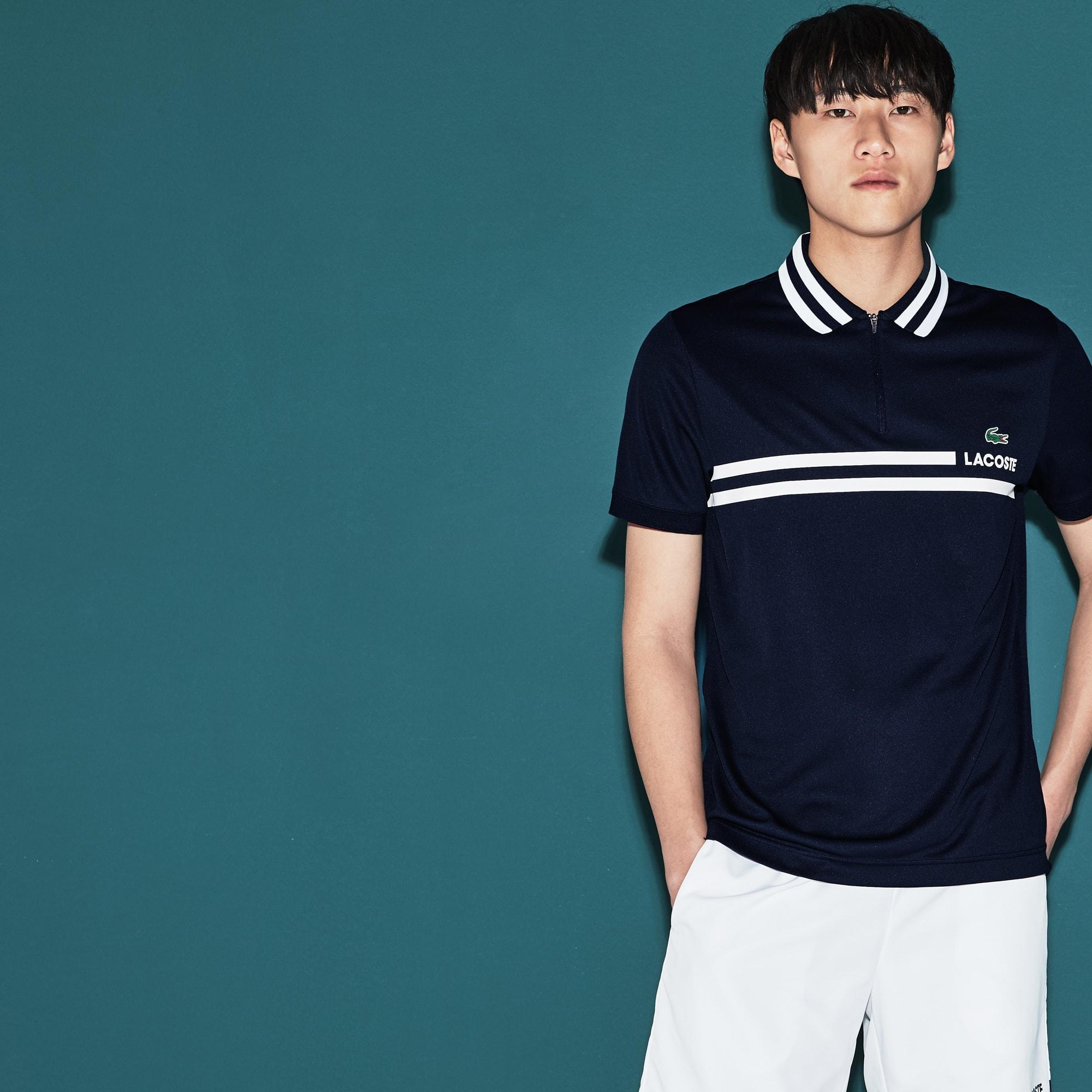 Men's Lacoste SPORT Contrast Band Tech Piqué Tennis Polo Shirt