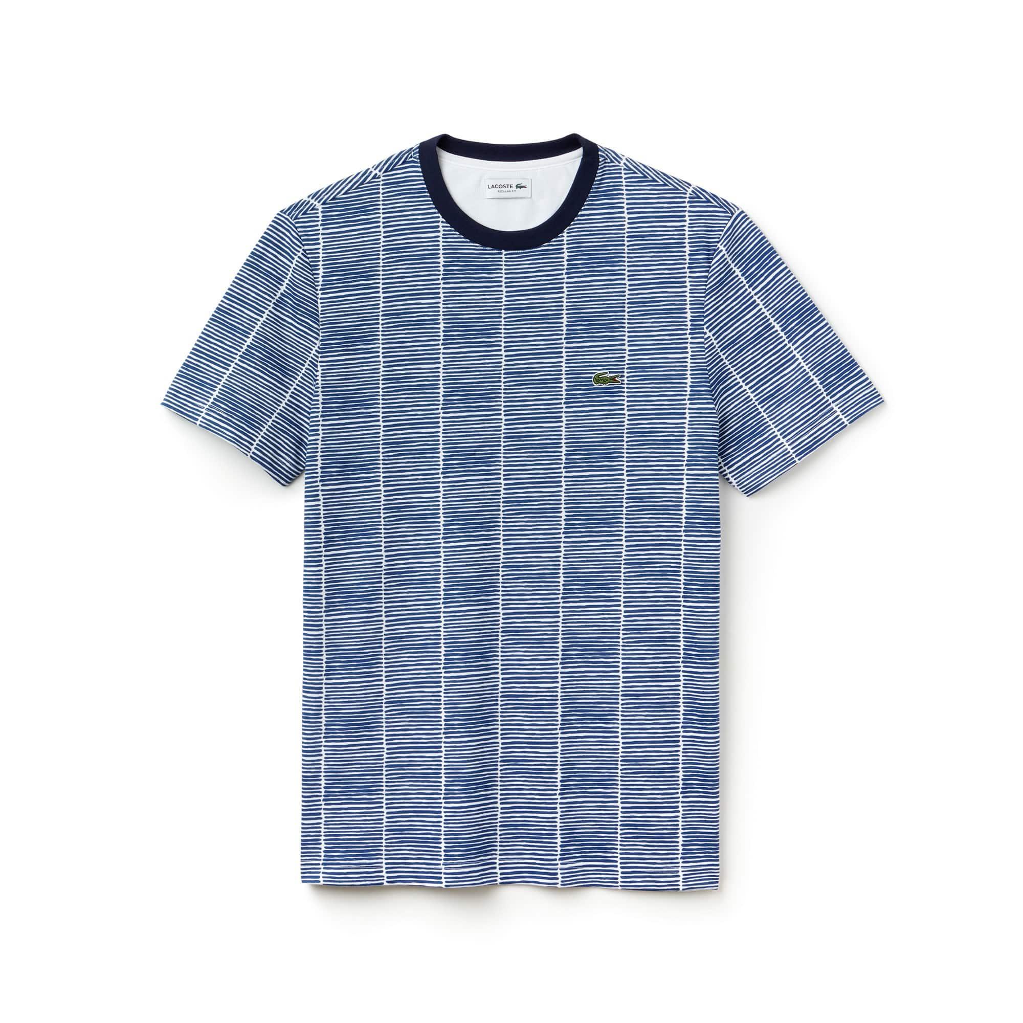 Men's Crew Neck Print Cotton Jersey T-shirt