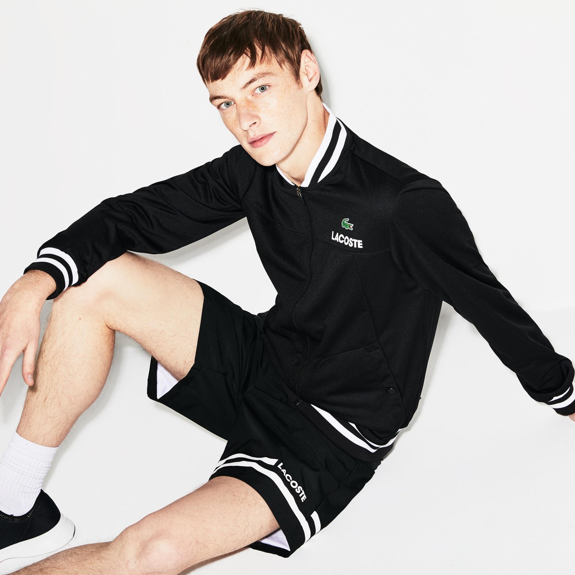 Men's Lacoste SPORT Technical Piqué Zip Tennis Jacket