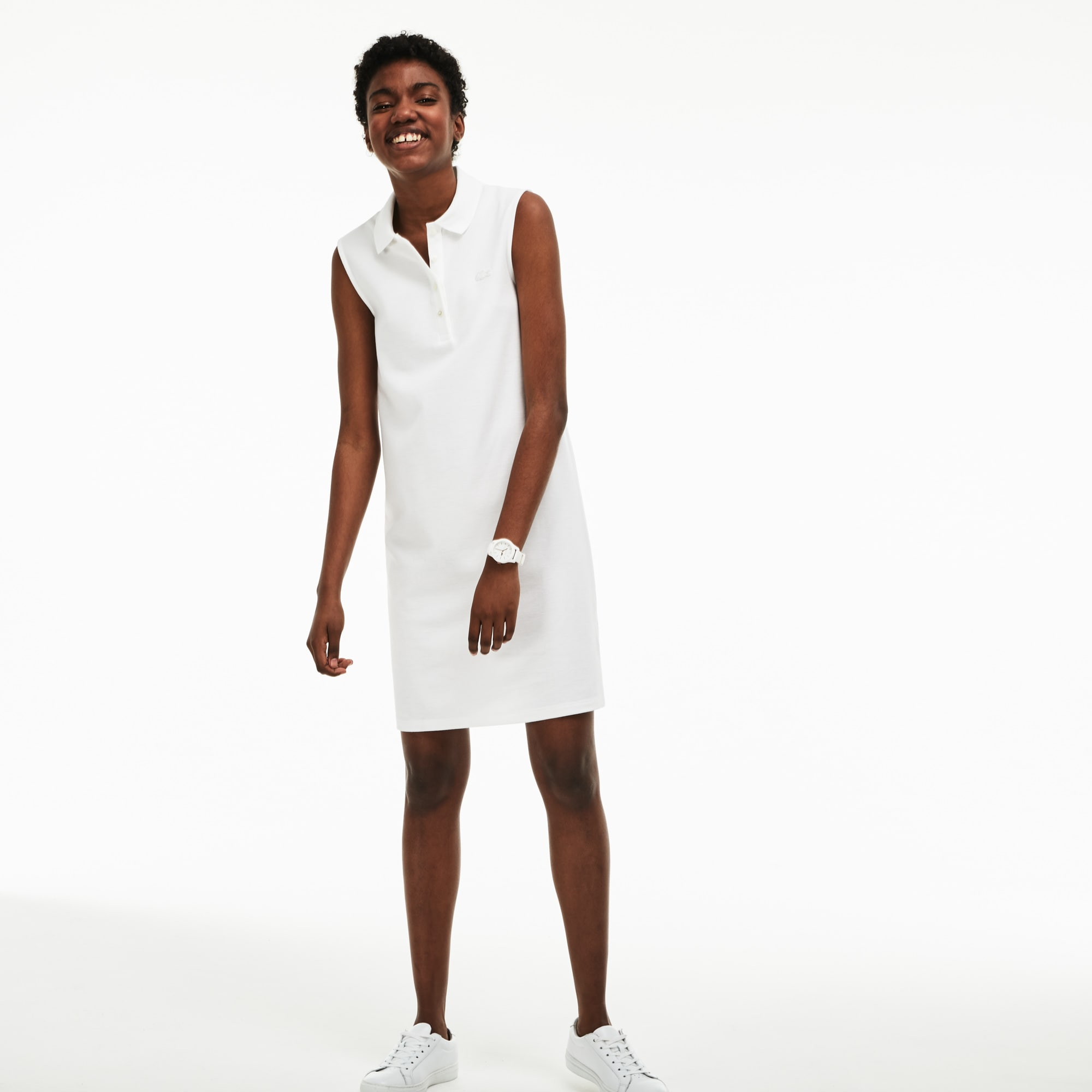 Women's Micro Piqué Polo Dress