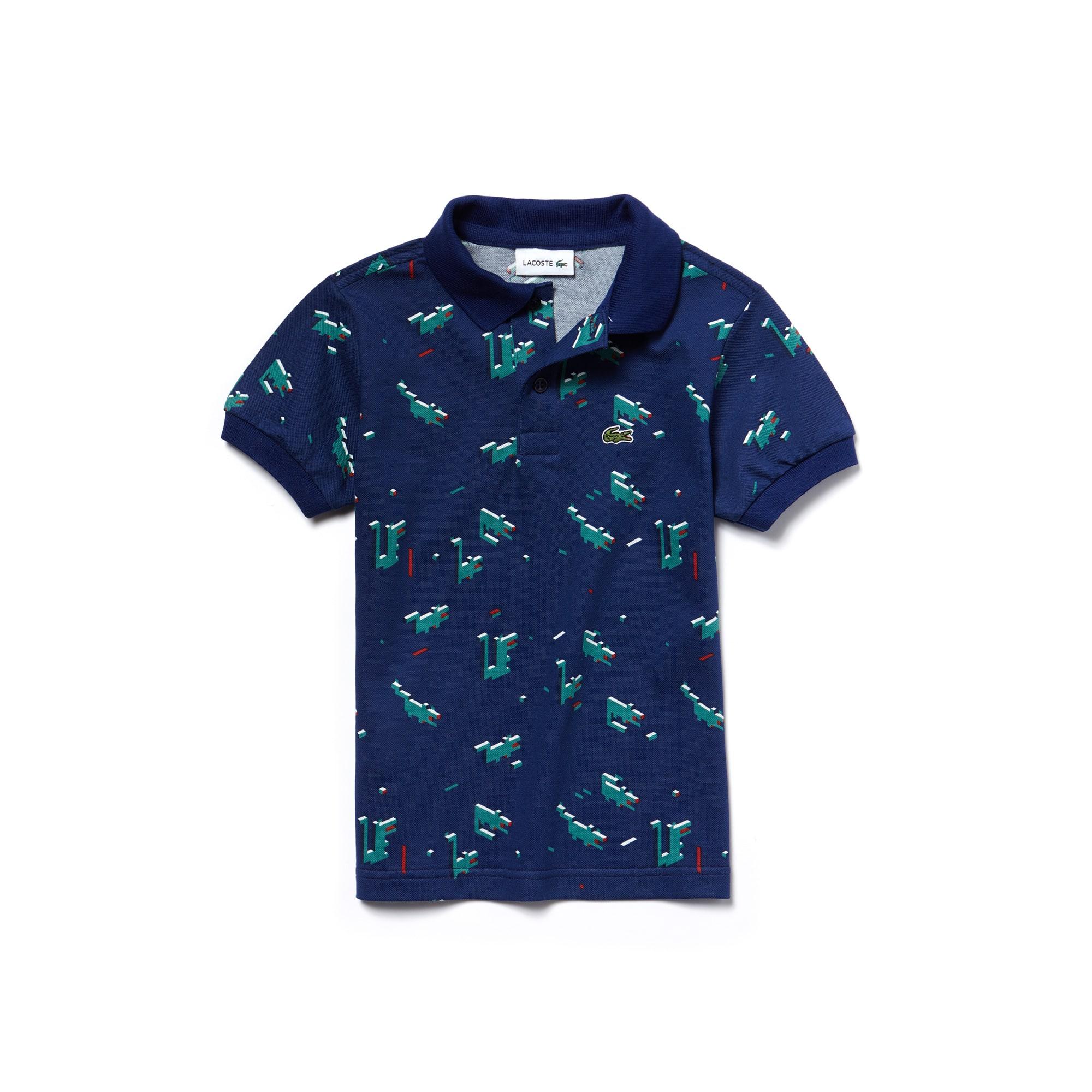 Boys' Lacoste Little Boy Edition Print Mini Piqué Polo