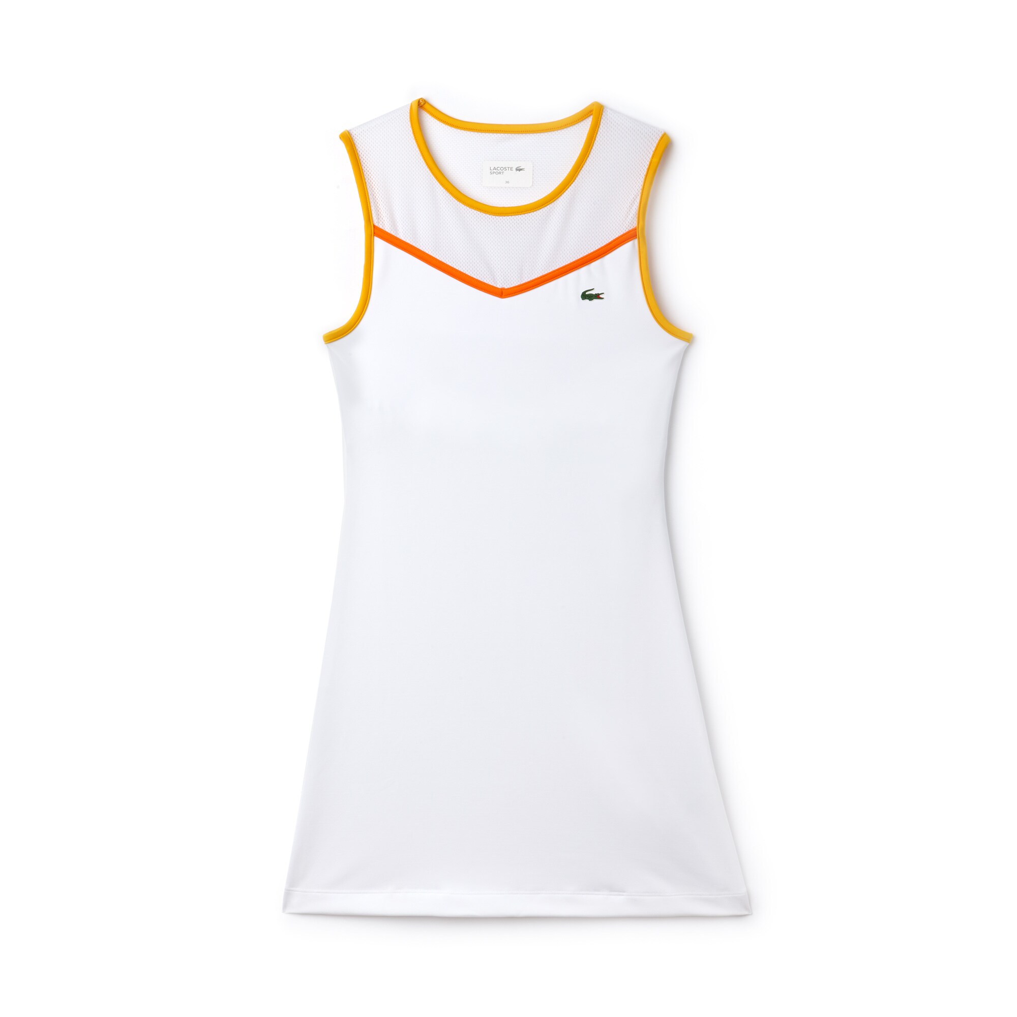 Women's Lacoste SPORT Tech Jersey And Mesh Racerback Tennis Dress