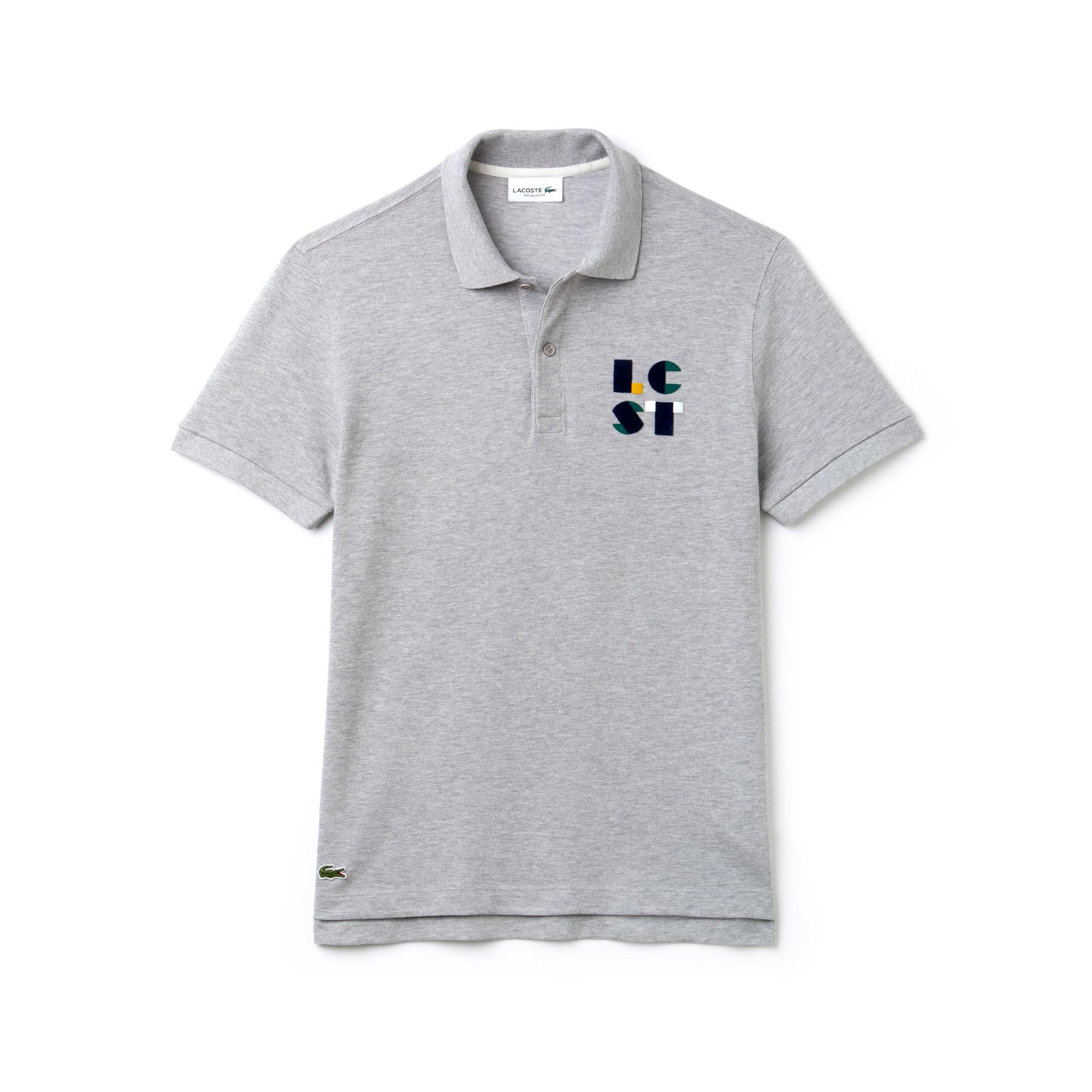 Men's Lacoste Regular Fit LCST Lettering Petit Piqué Polo Shirt