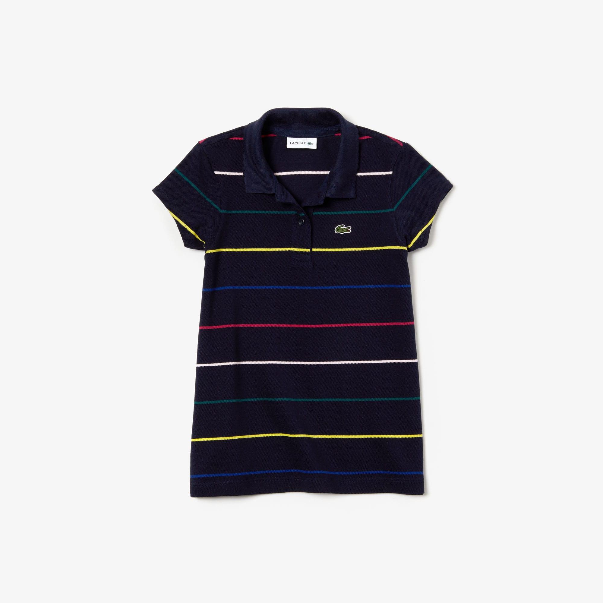 Piqué Shirt Lacoste Coloured Girls' Pinstripes Polo Cotton nv0mO8wN