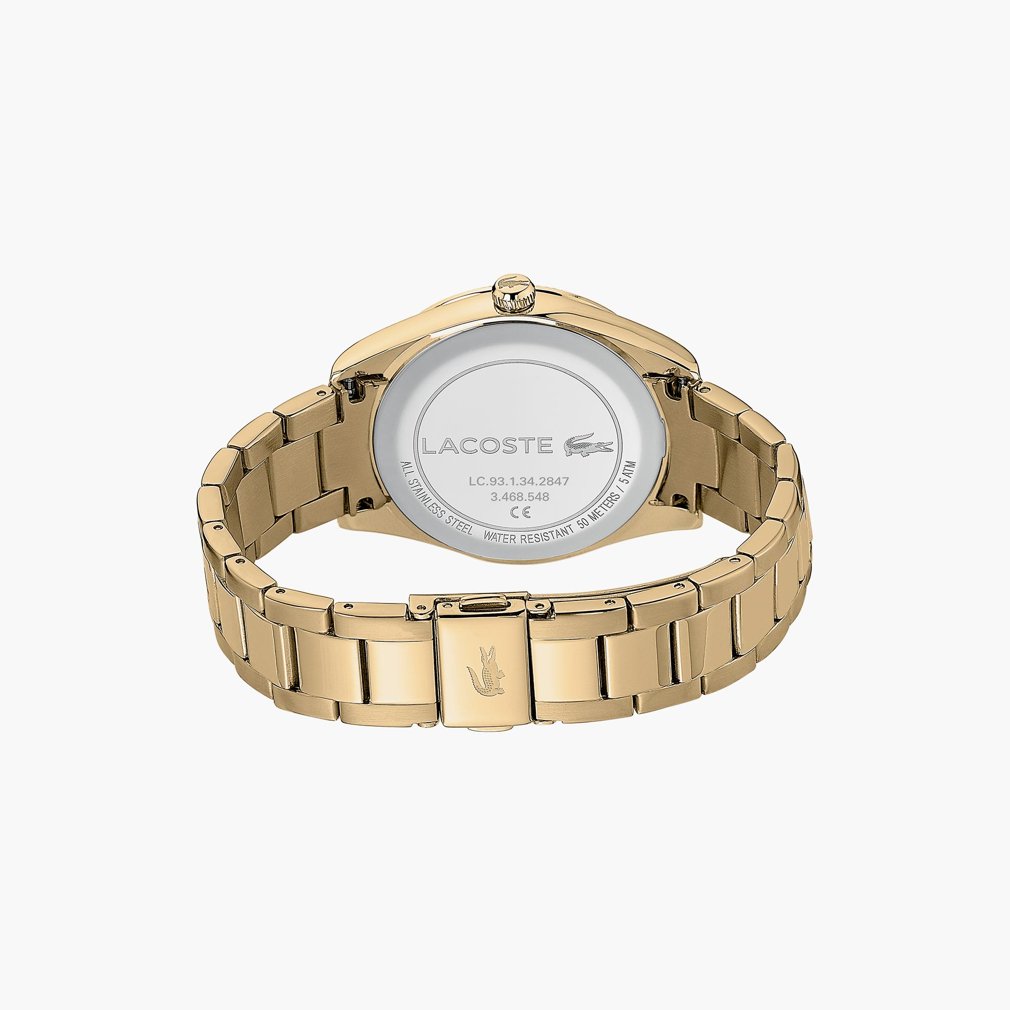 Ladies Lacoste Parisienne Watch with Matte / Shiny Yellow Gold Strap