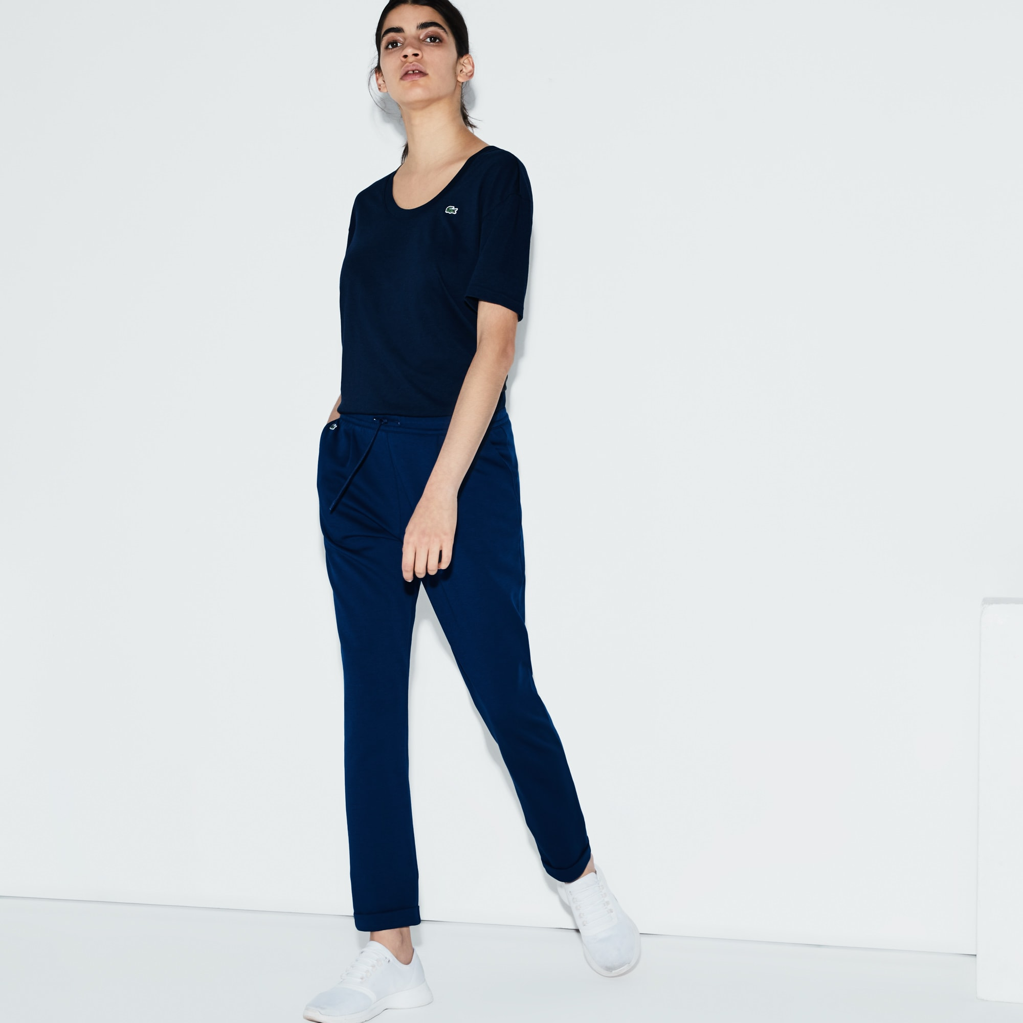 Women's Lacoste SPORT Pleated Cotton Tennis Trackpants