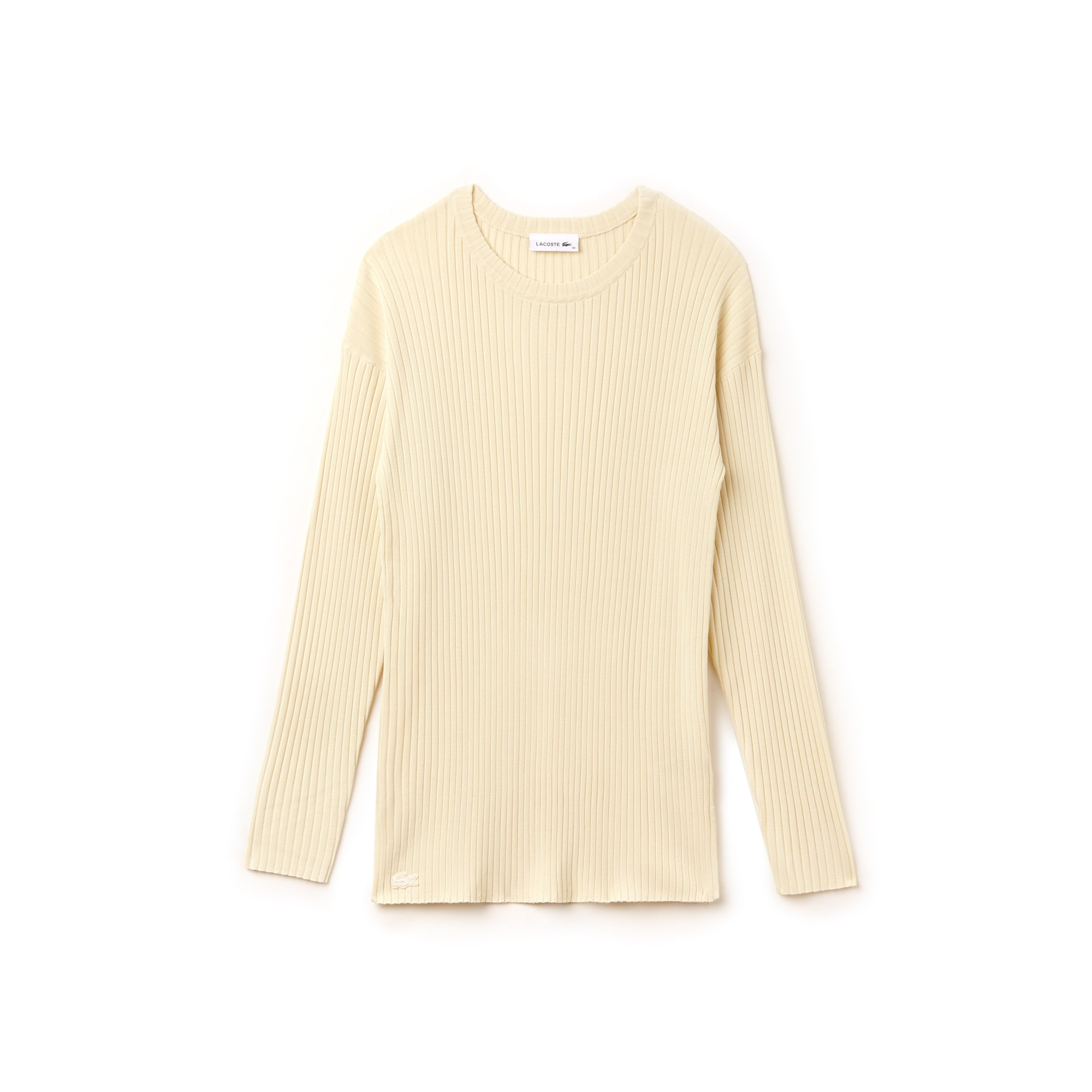 Women's Crew Neck Ribbed Knit Sweater