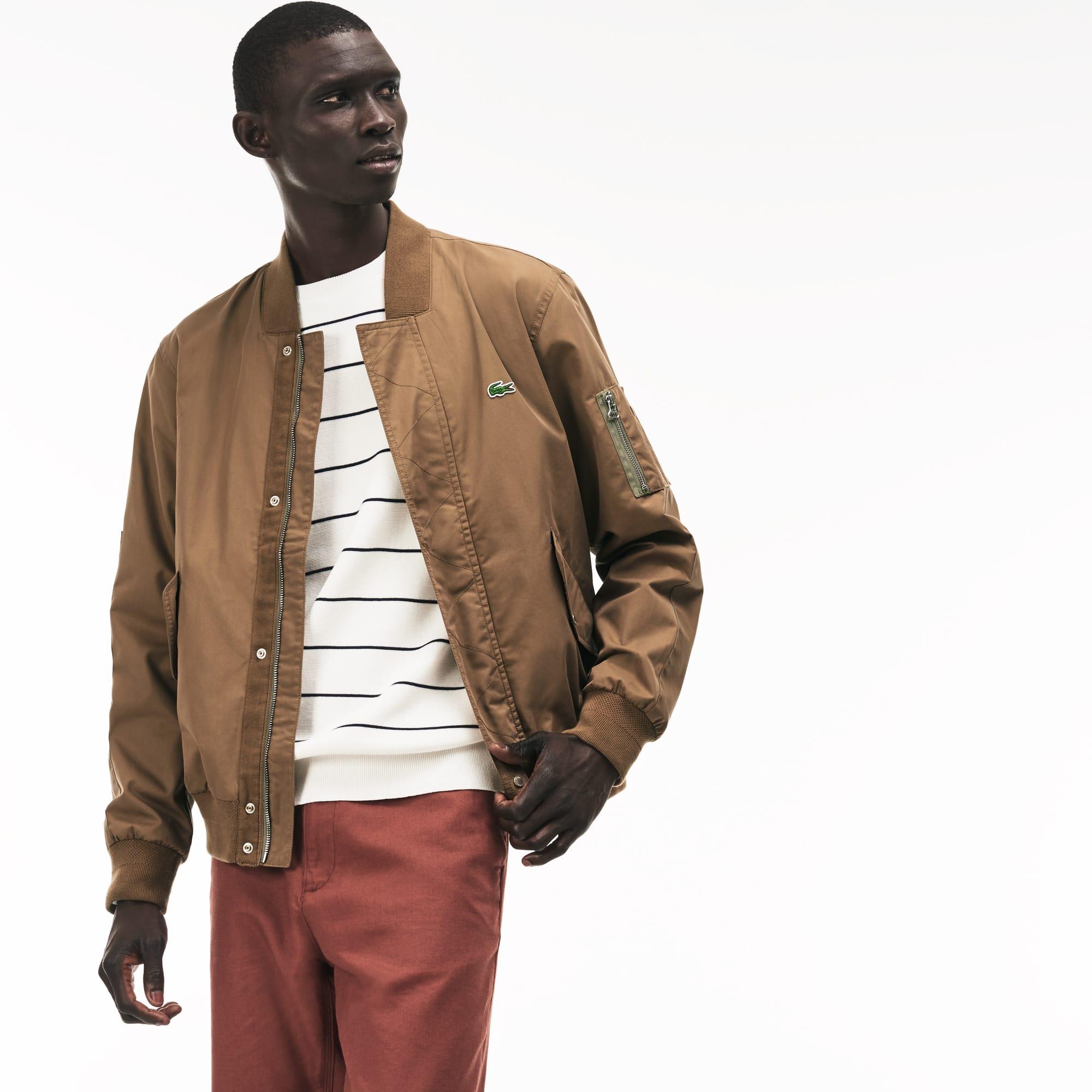 Men's Lightweight Texturized Cotton Bomber