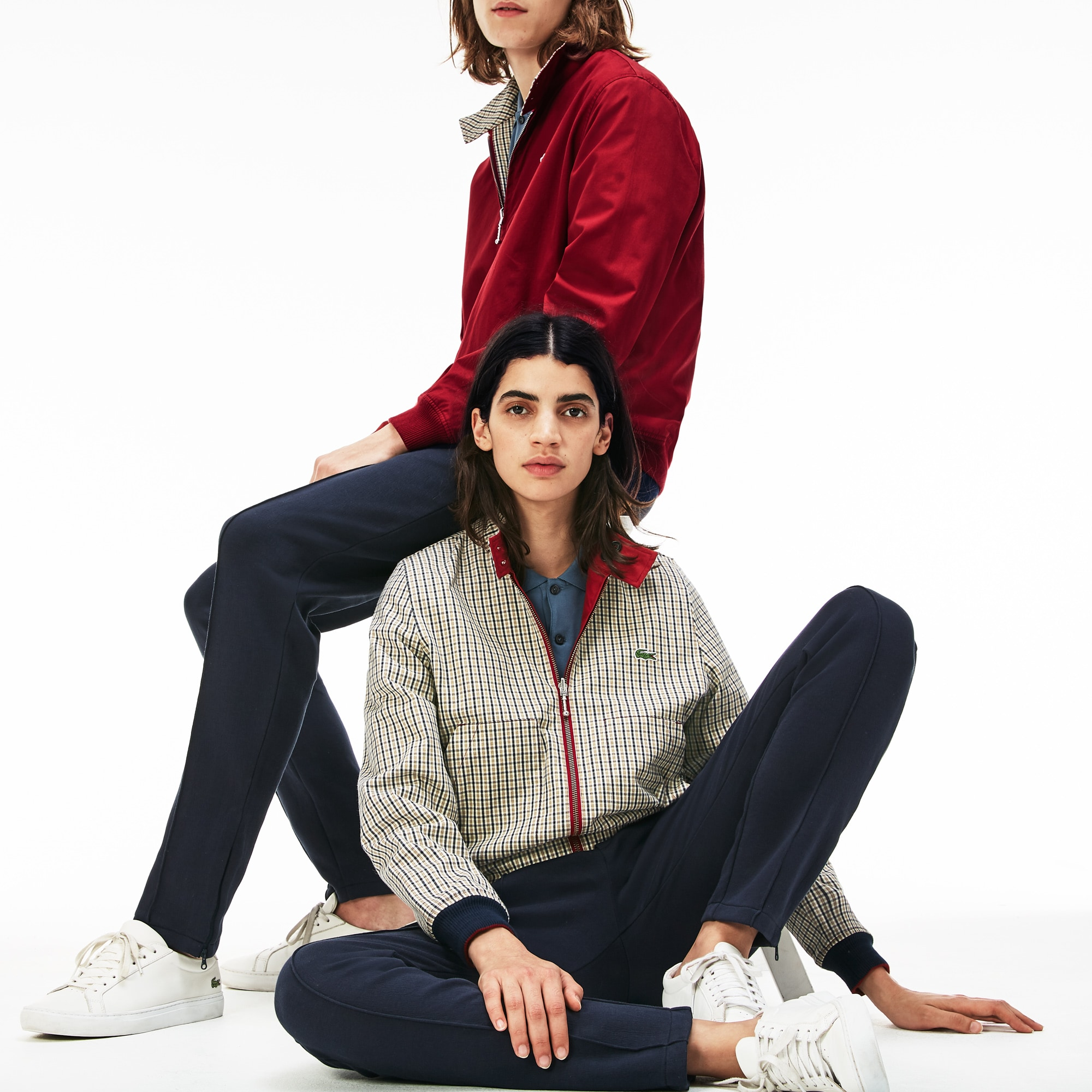 Unisex Lacoste LIVE Short Reversible Canvas Zip Jacket