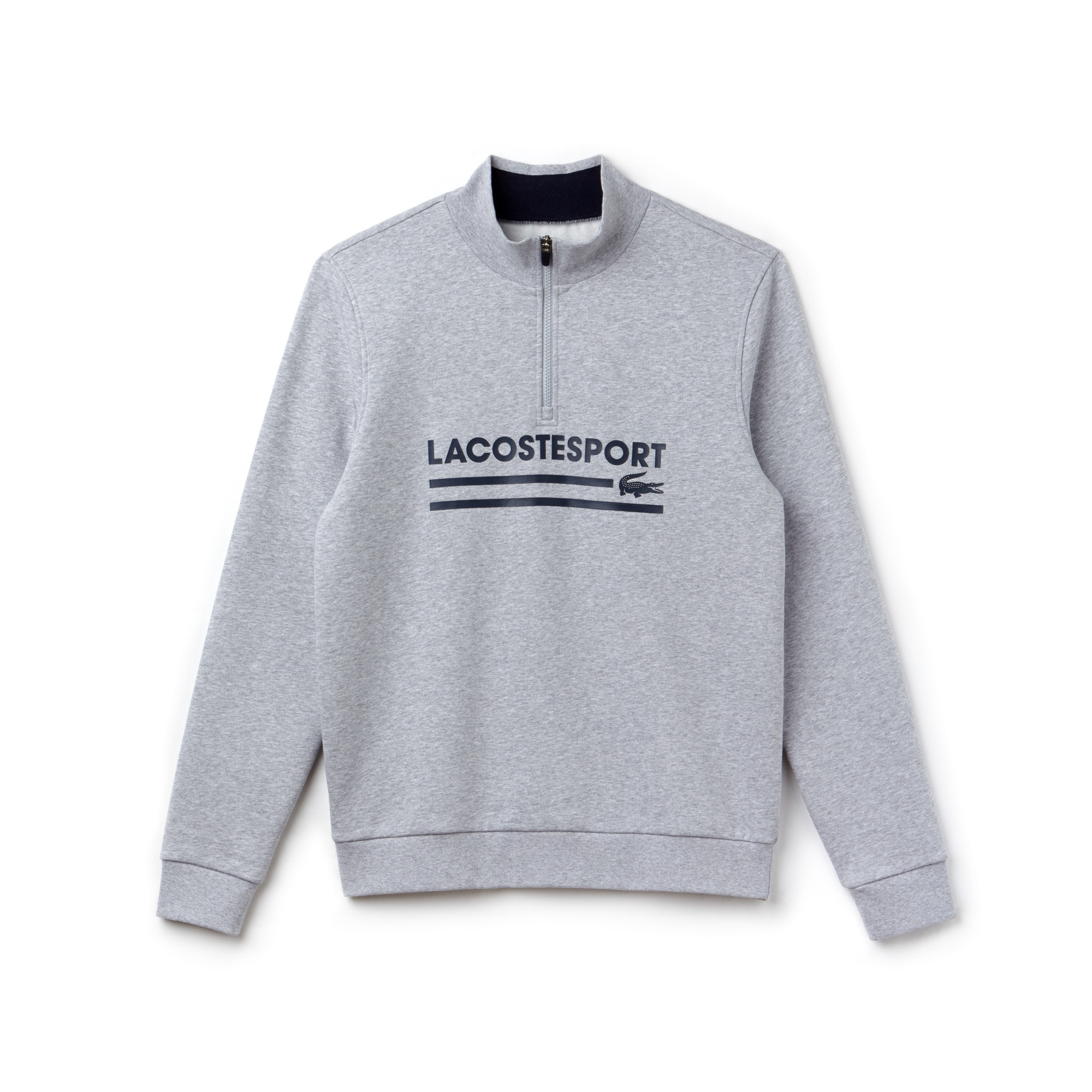 Men's Lacoste SPORT Zip Stand-Up Collar Fleece Tennis Sweatshirt