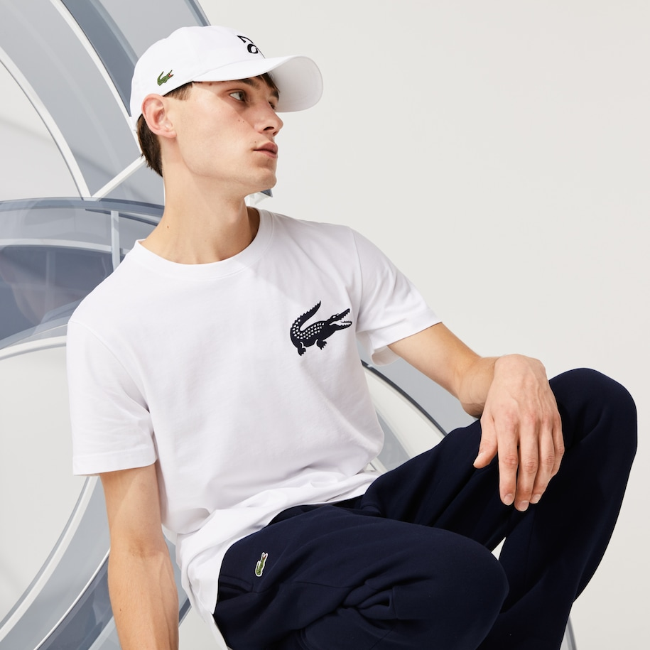 Men's Lacoste SPORT x Novak Djokovic Breathable Jersey T-shirt