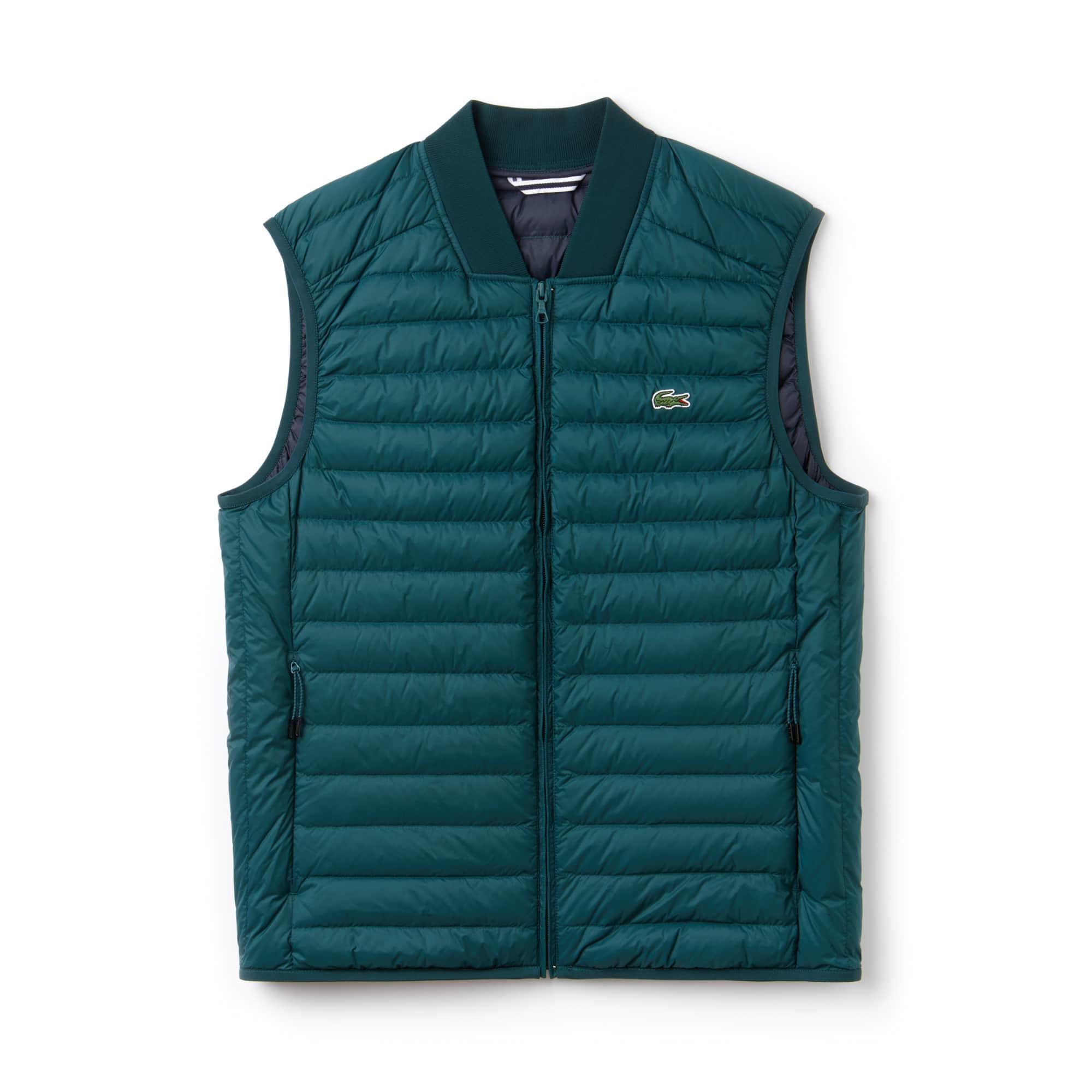 Men's Short Contrast Lining Quilted Vest