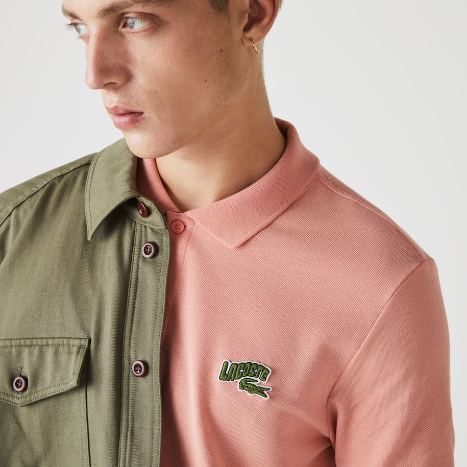 Men's Lacoste Embroidered Badge Regular Fit Cotton Piqué Polo Shirt
