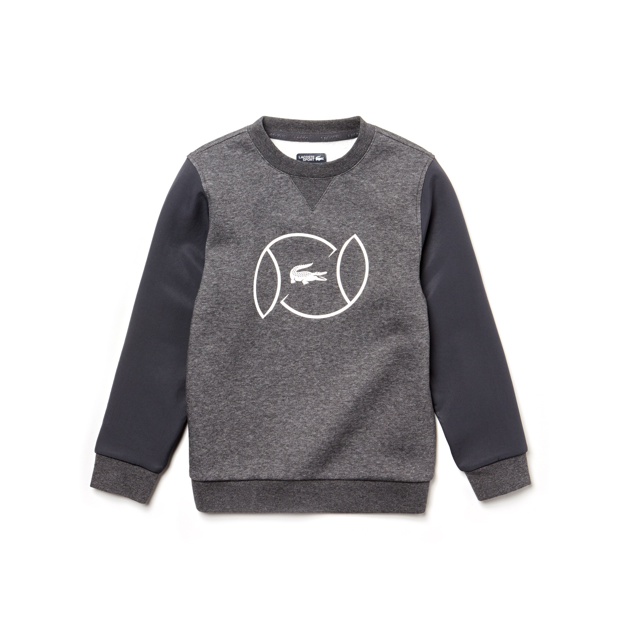 Boys' Lacoste SPORT Fleece And Lettering Tennis Sweatshirt