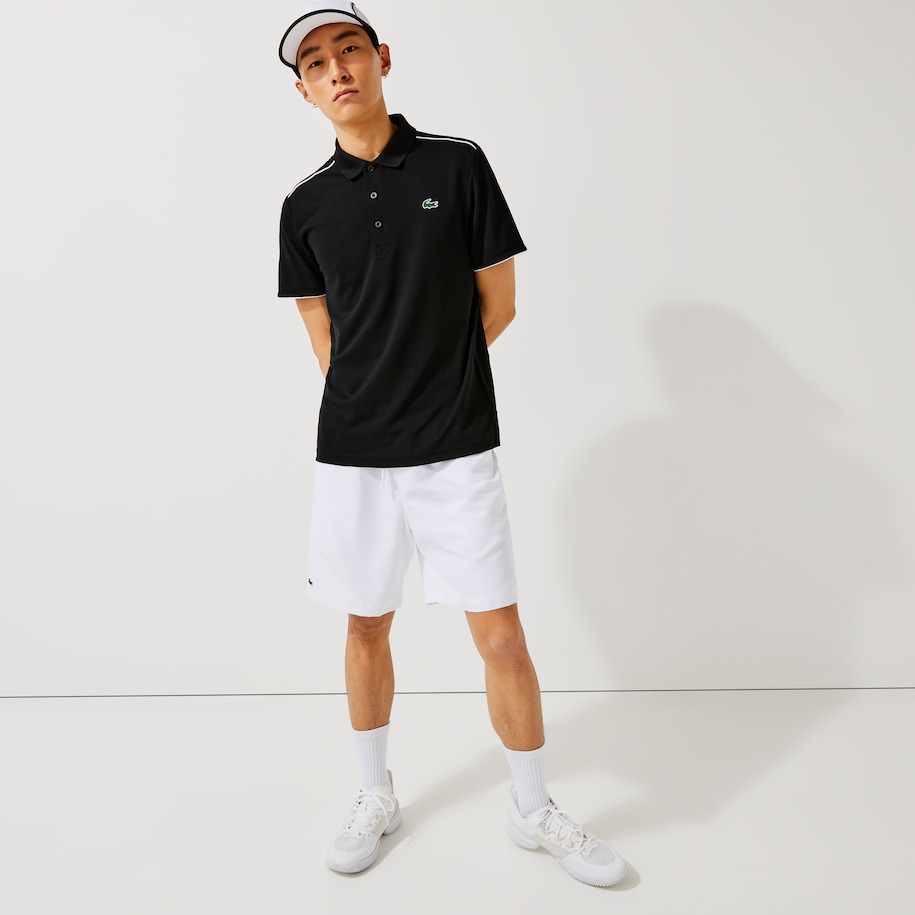 Men's Lacoste SPORT Contrast Piping Breathable Piqué Polo Shirt