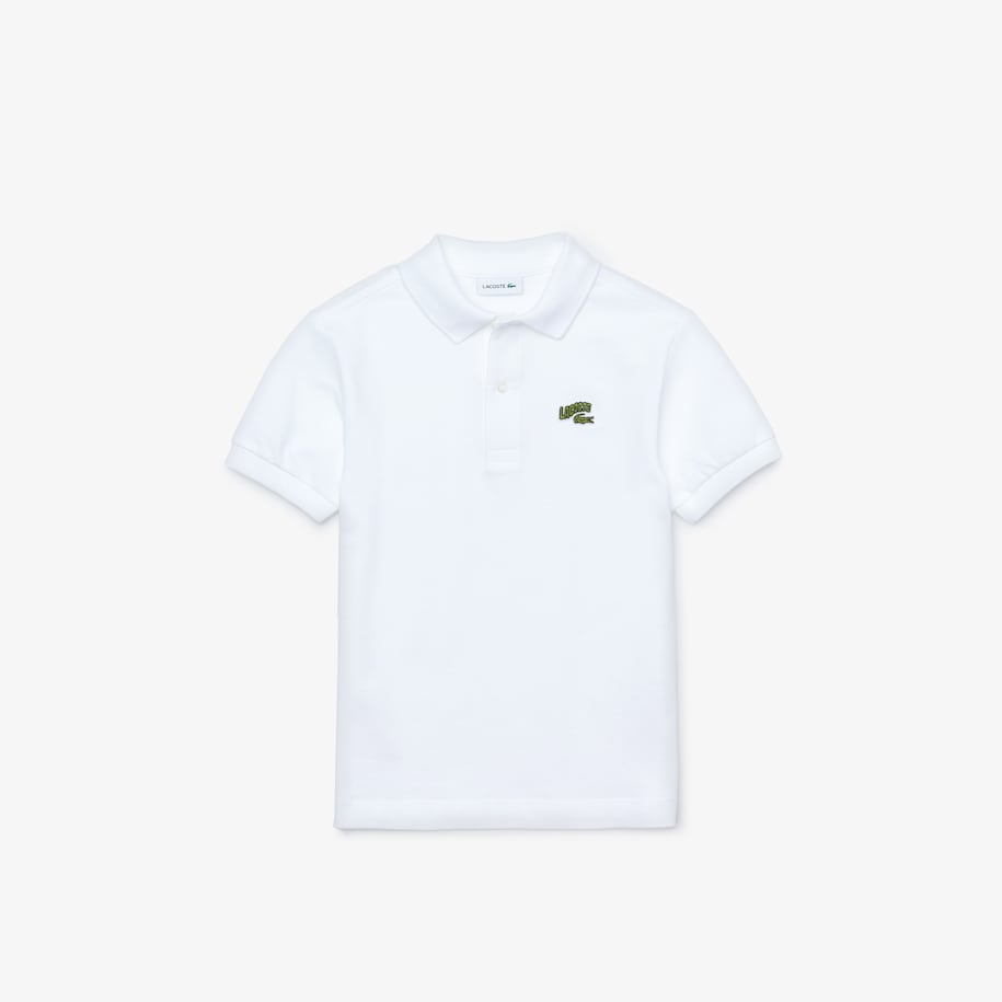 Boys' Lacoste Wave Crocodile Badge Cotton Piqué Polo Shirt