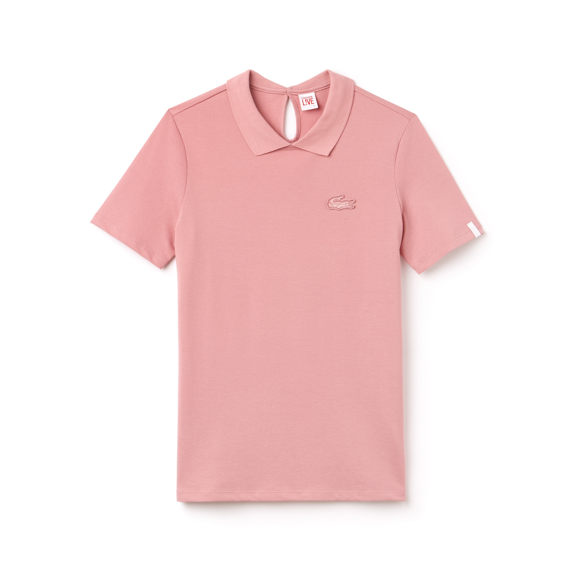 Women's Lacoste LIVE Teardrop Opening Mini Piqué Polo Shirt