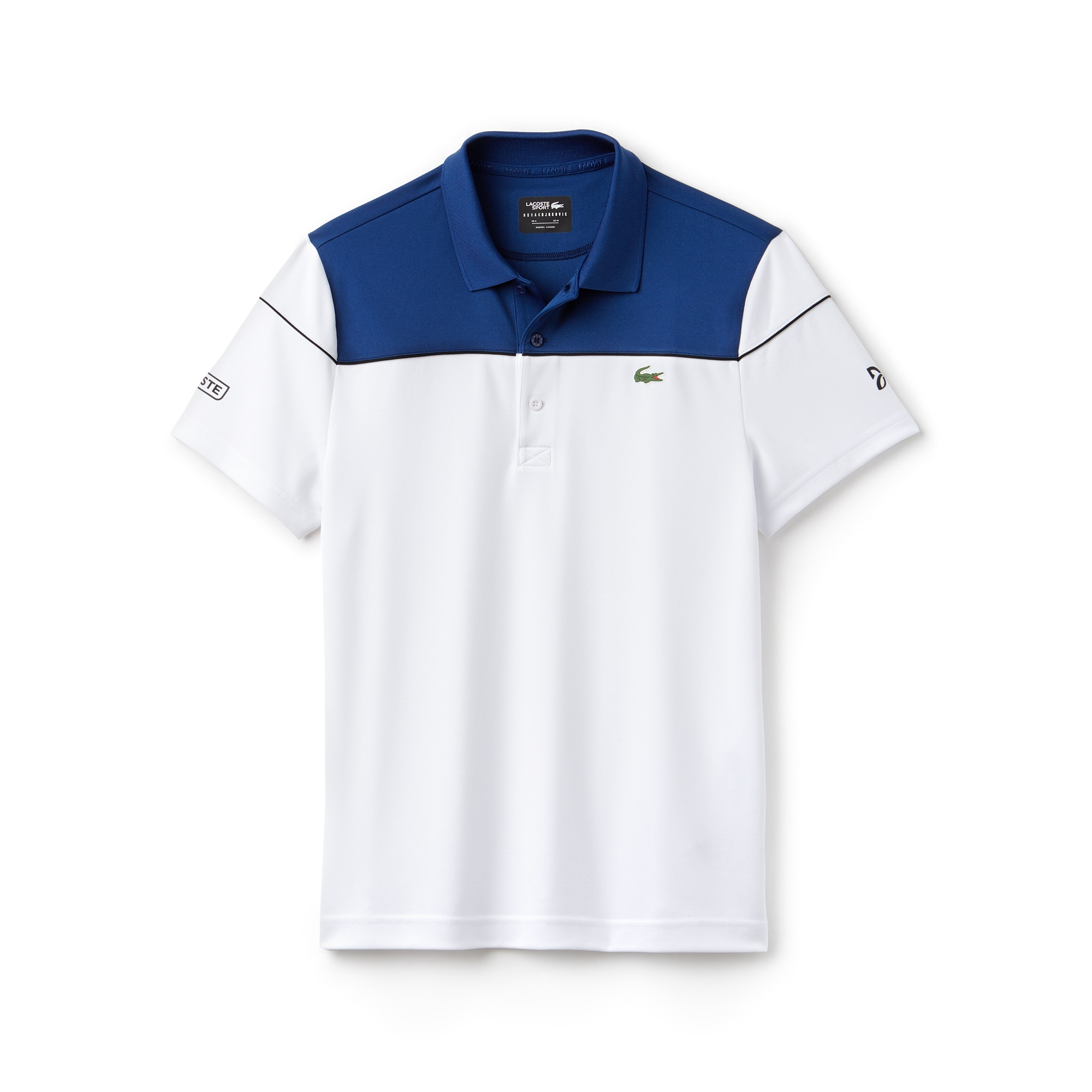 Men's LACOSTE SPORT NOVAK DJOKOVIC COLLECTION Colorblock Tech Piqué Polo Shirt