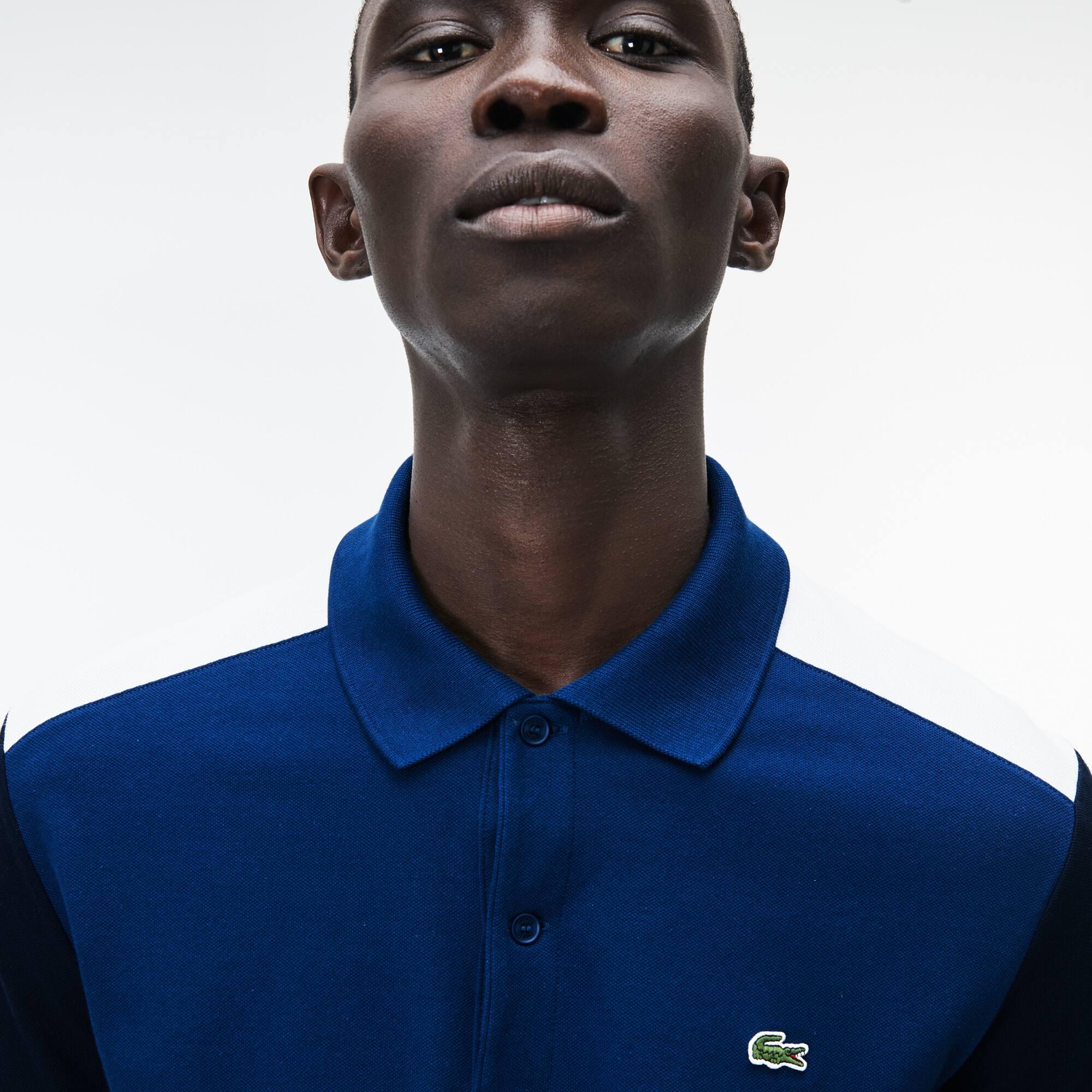 Men's Lacoste Slim Fit Colorblock Stretch Pima Cotton Piqué Polo Shirt