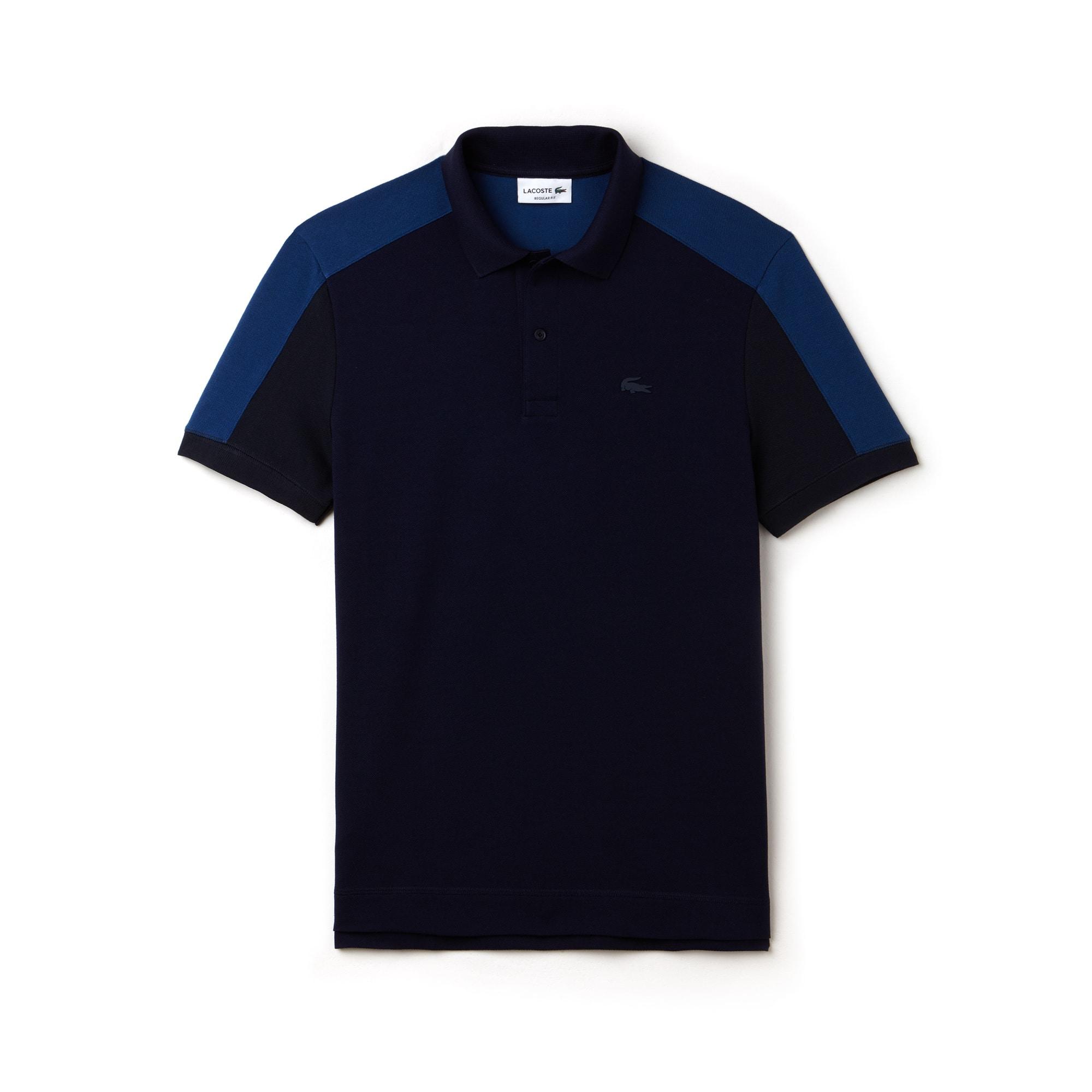 Men's Lacoste Regular Fit Colorblock Petit Piqué Polo Shirt
