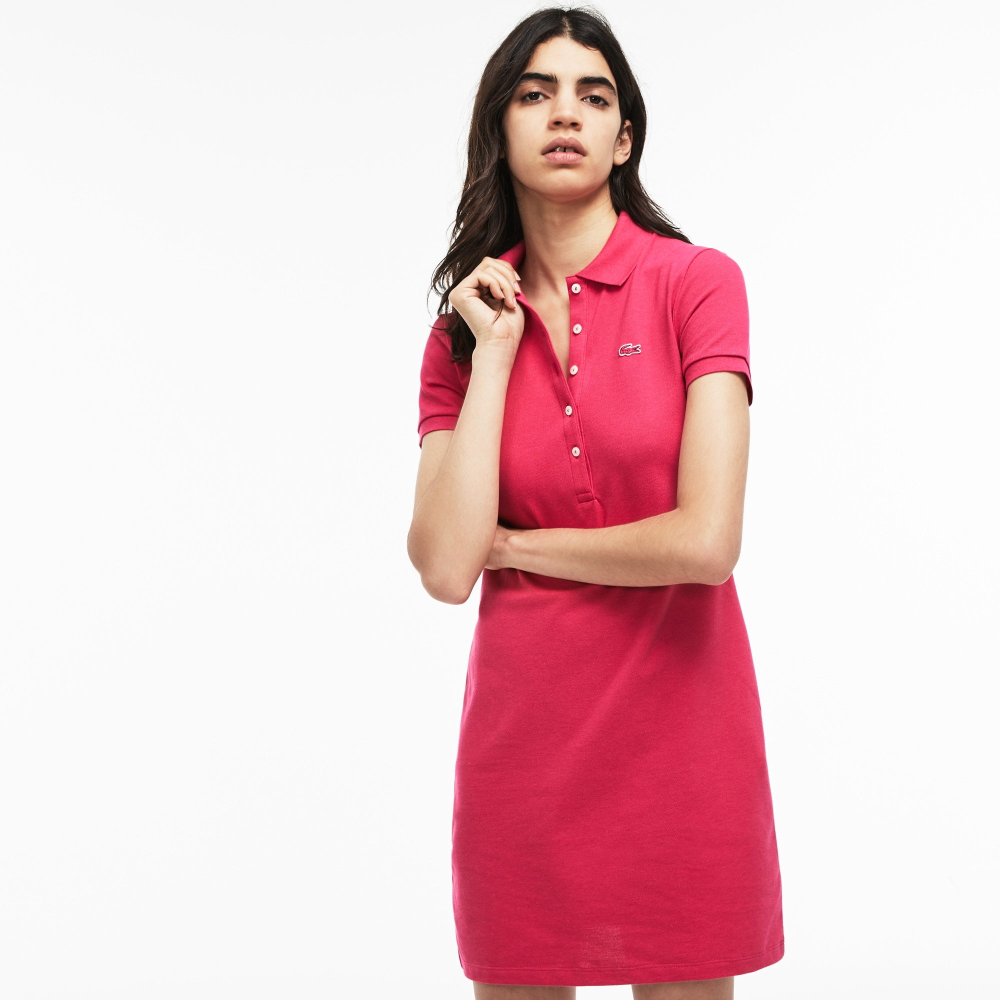 Women's Stretch Cotton Mini Piqué Polo Dress
