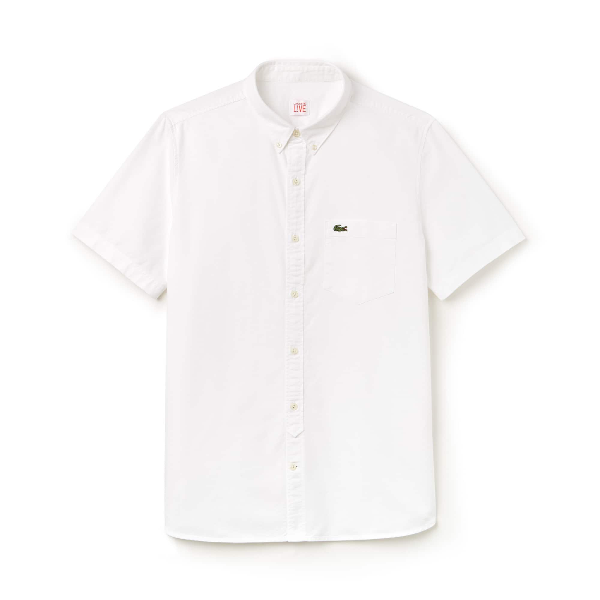 Men's Lacoste LIVE Oxford Cotton Shirt