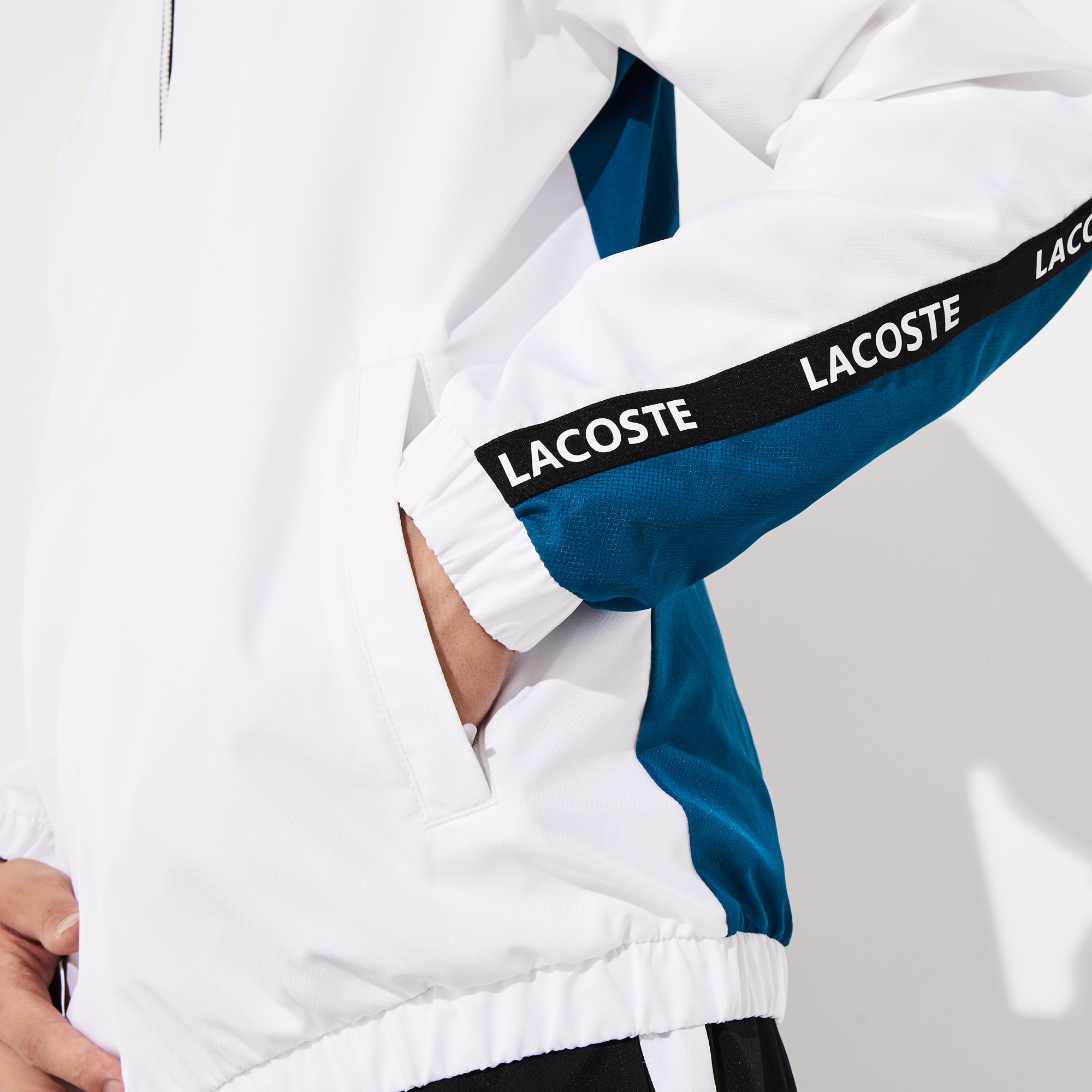 Bicolour Bands Lacoste Signature Sport Sweat Men's Jacket rQtdsh