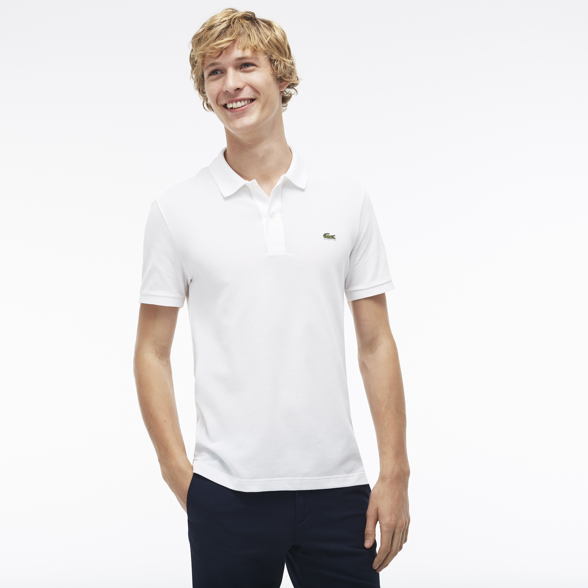 Customised Slim Fit Lacoste Polo