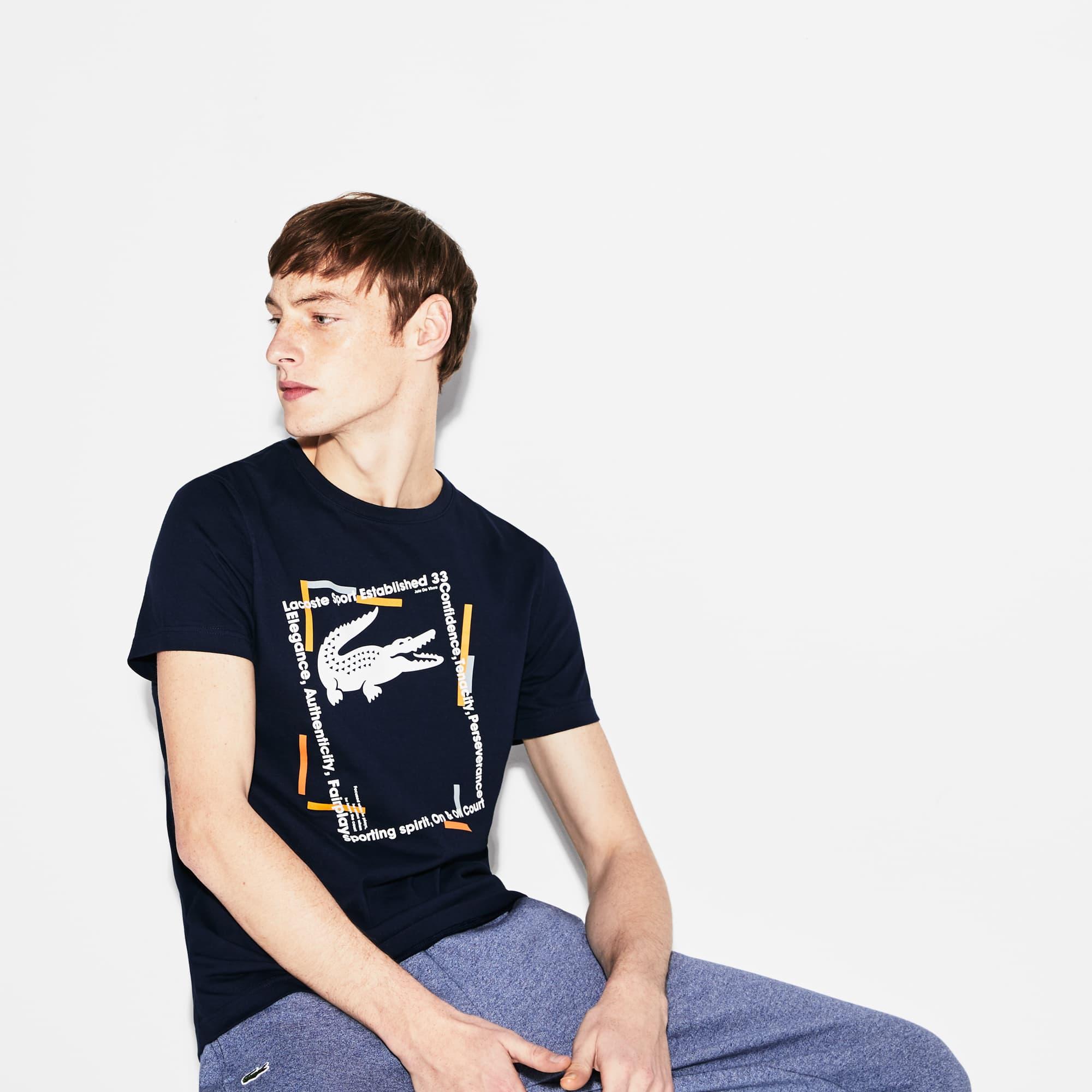 Men's Lacoste SPORT Logo Tech Jersey Tennis T-shirt